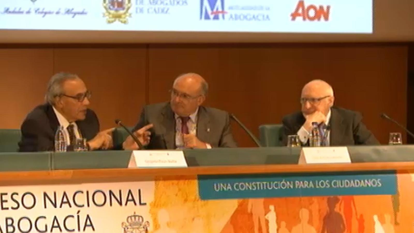 Gregorio Peces Barba, al congrés d'advocats de Cadis