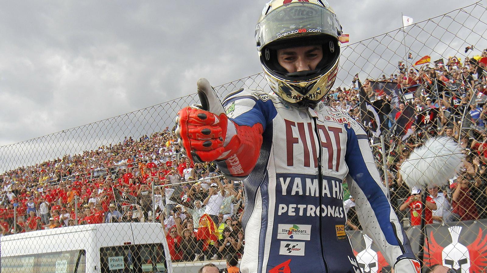 Jorge Lorenzo, el 2010, quan va guanyar el seu primer títol de MotoGP