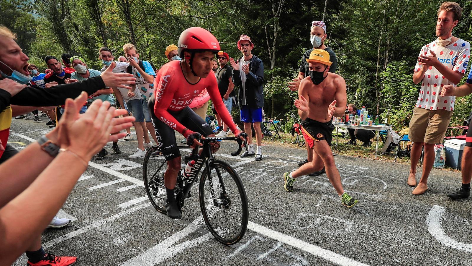 Nairo Quintana en la vintena etapa del Tour