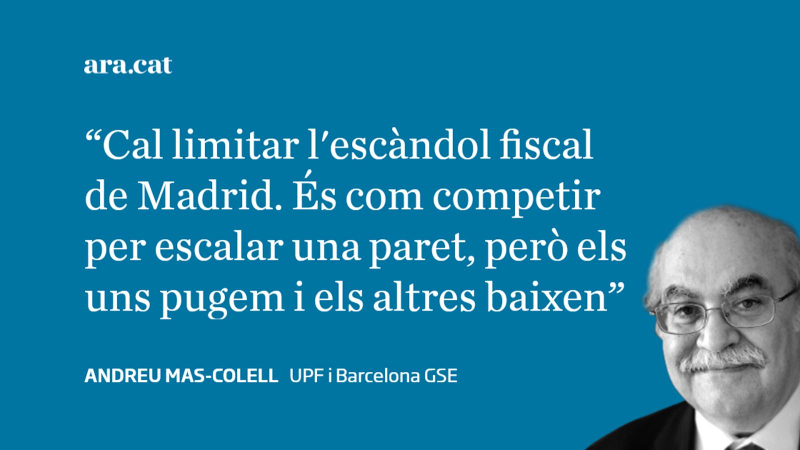 Catalunya, Madrid  i la competència fiscal
