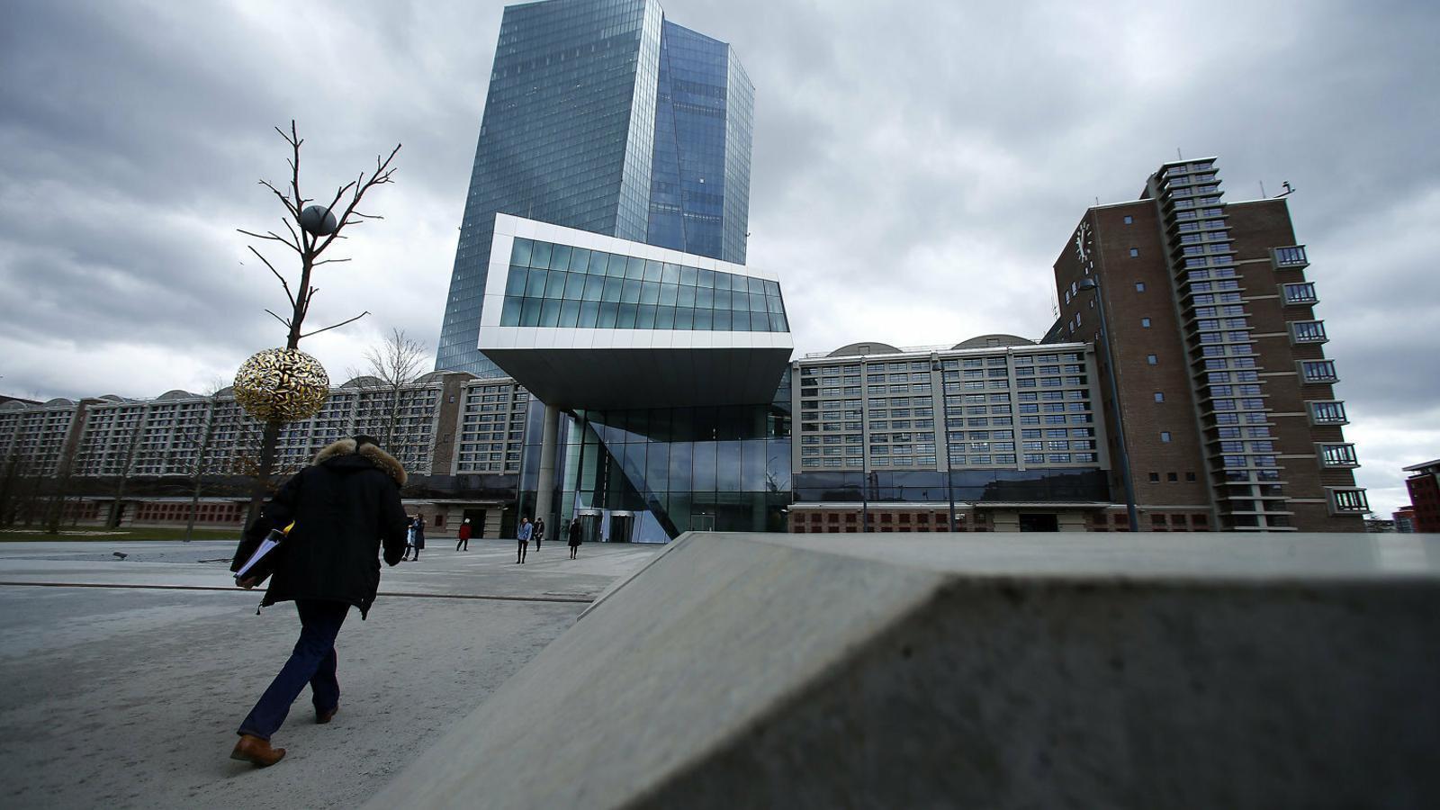 La seu central del Banc Central Europeu (BCE) a Frankfurt.