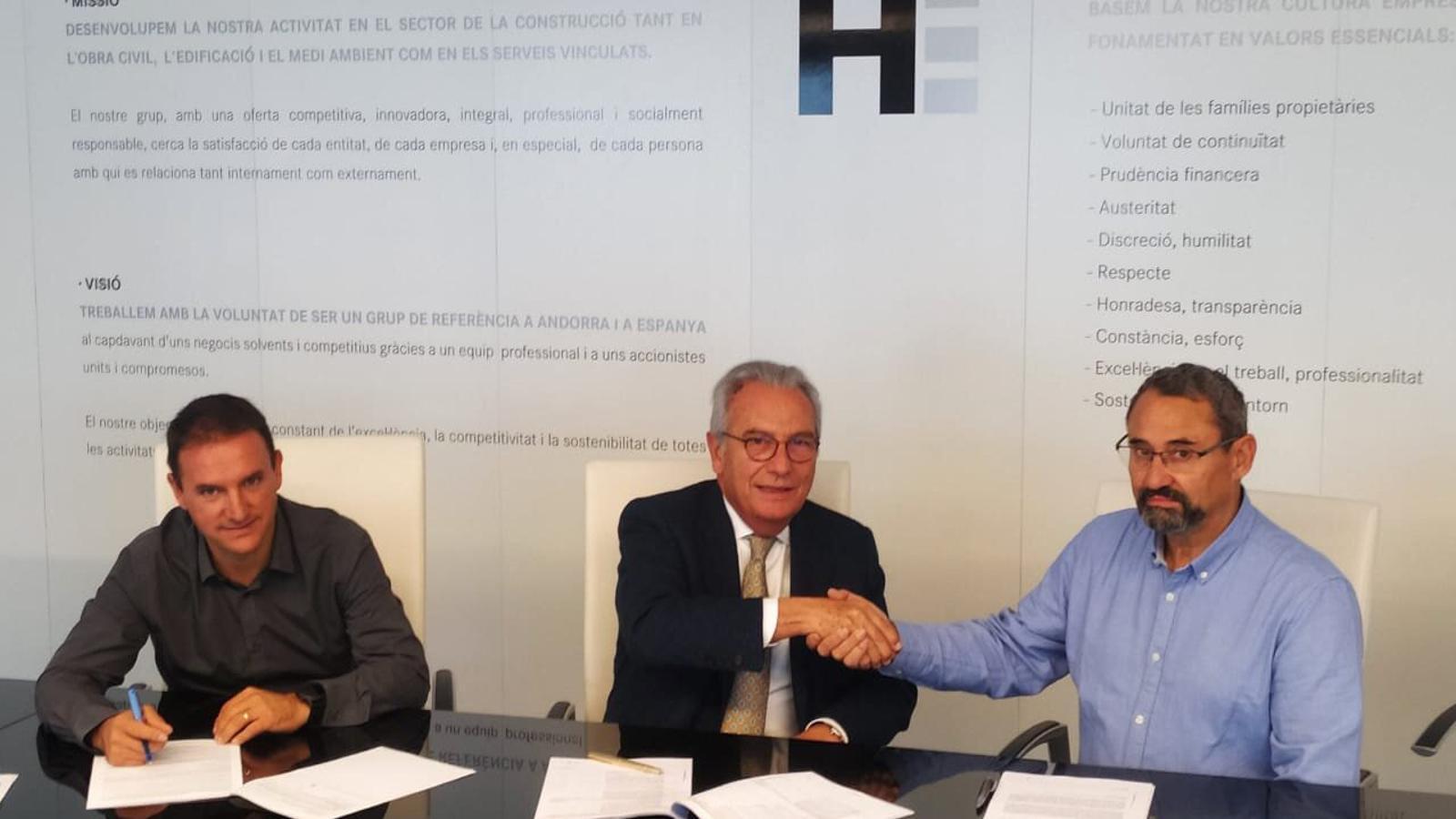 Sergio Gracia, Josep Maria Civil i Alejandro Martínez. / MOLINES PATRIMONIS