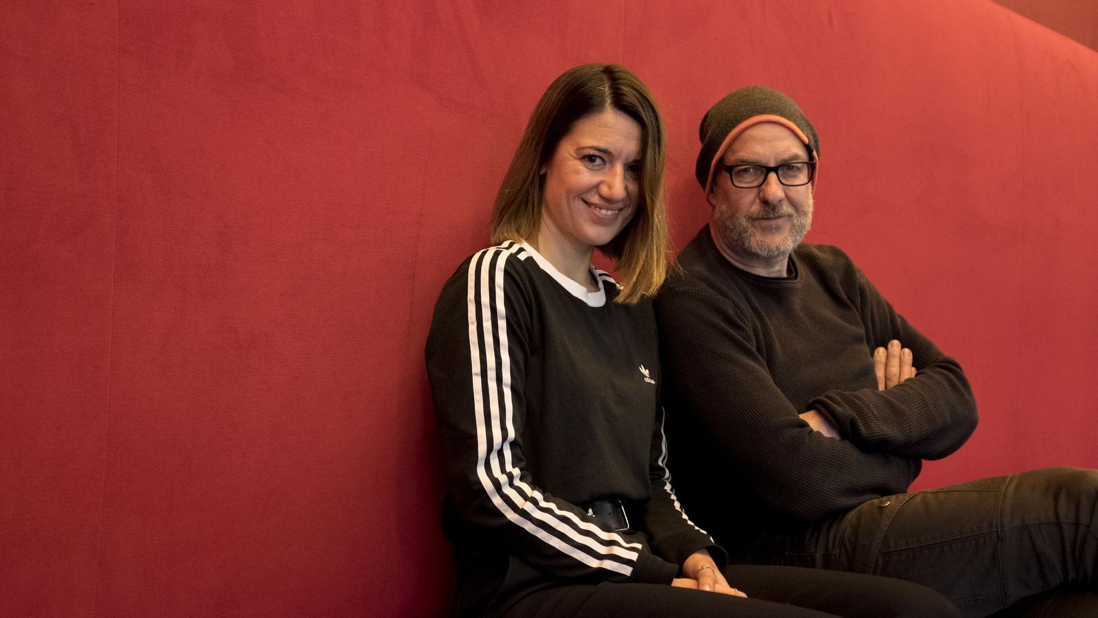 Alba Pujol amb Alex Rigola a la Sala Beckett
