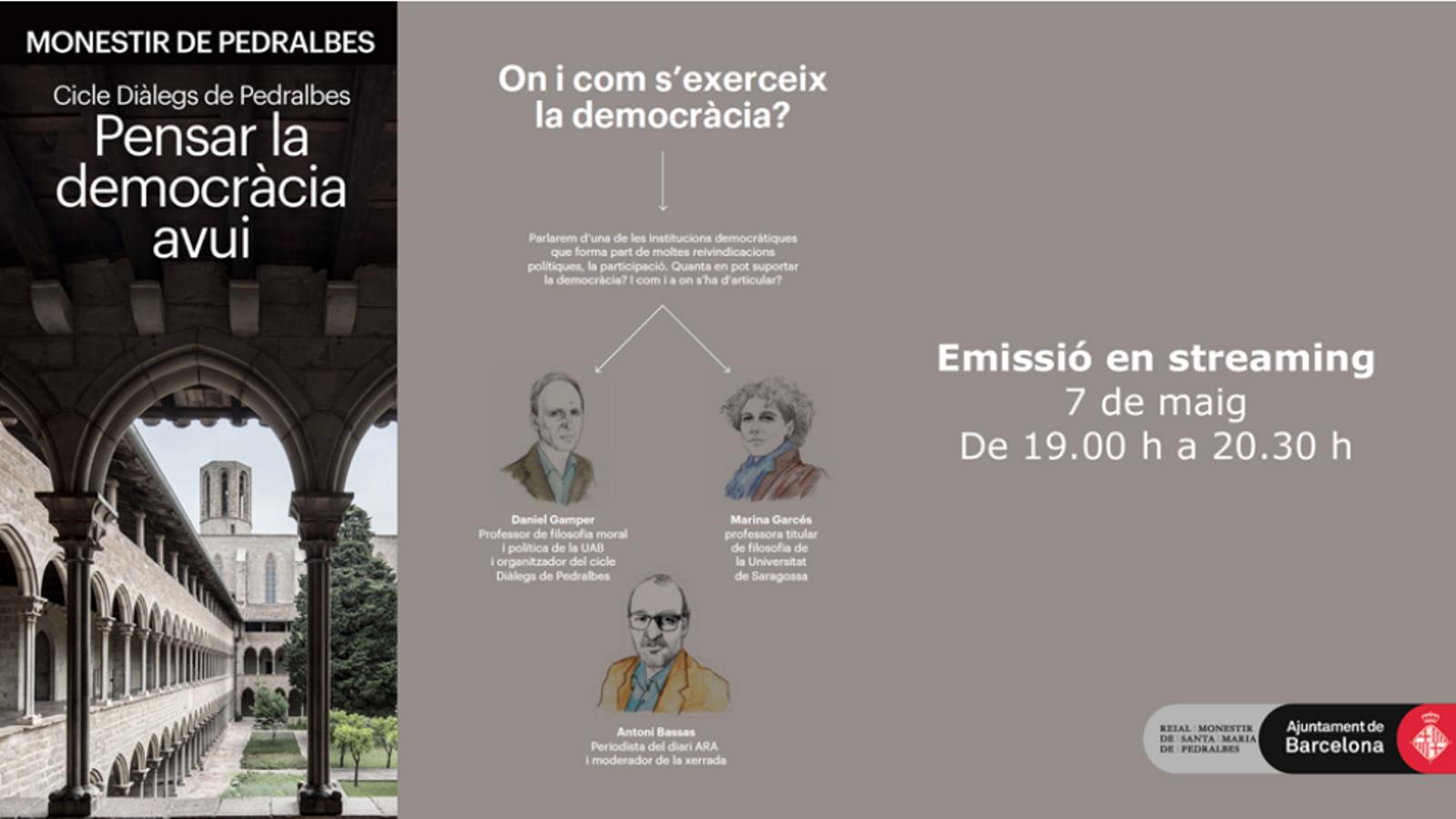 'On i com s'exerceix la democràcia radical?': Marina Garcés tanca els 'Diàlegs de Pedralbes'