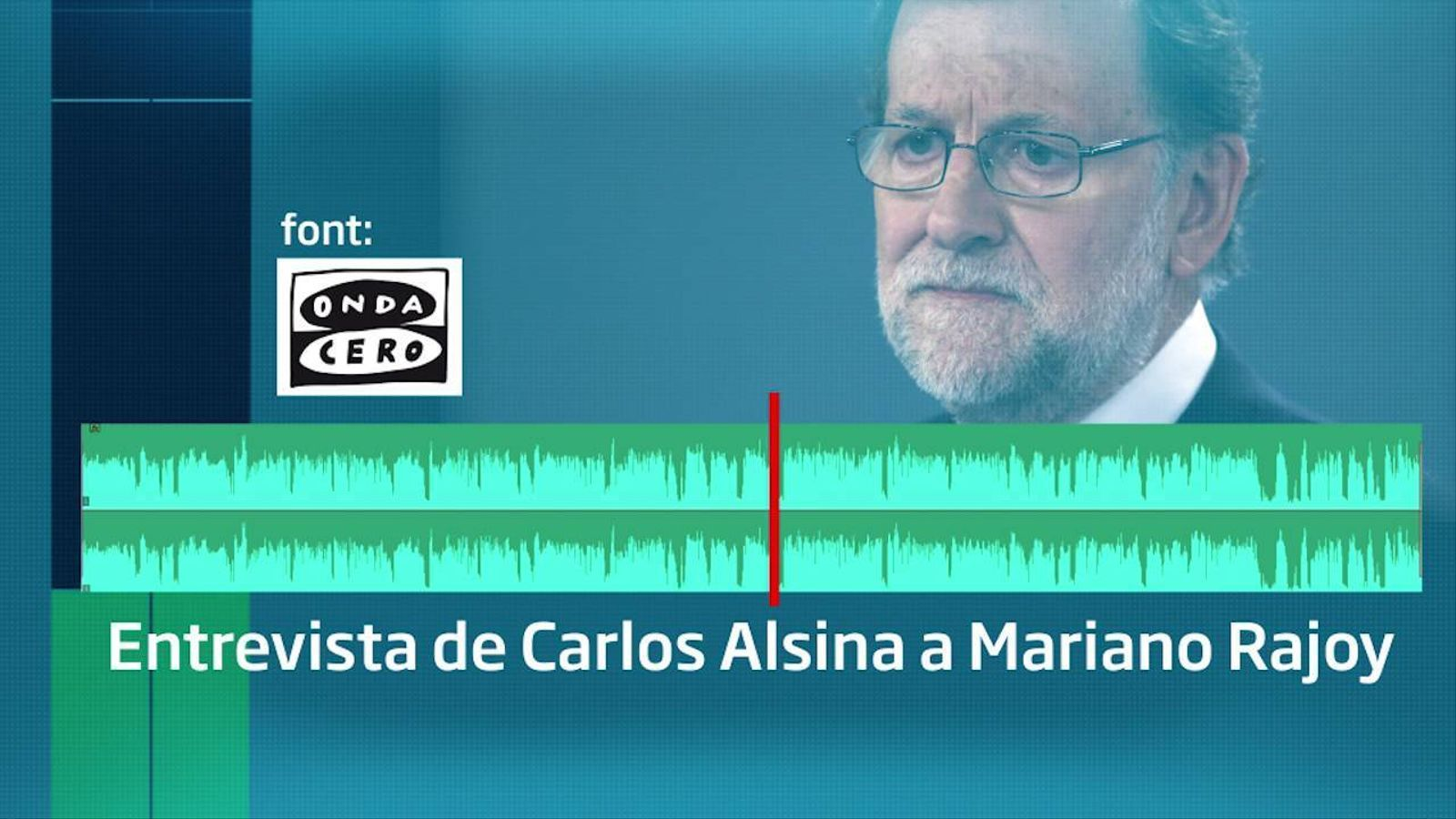 Carlos Alsina torna a posar contra les cordes a Mariano Rajoy