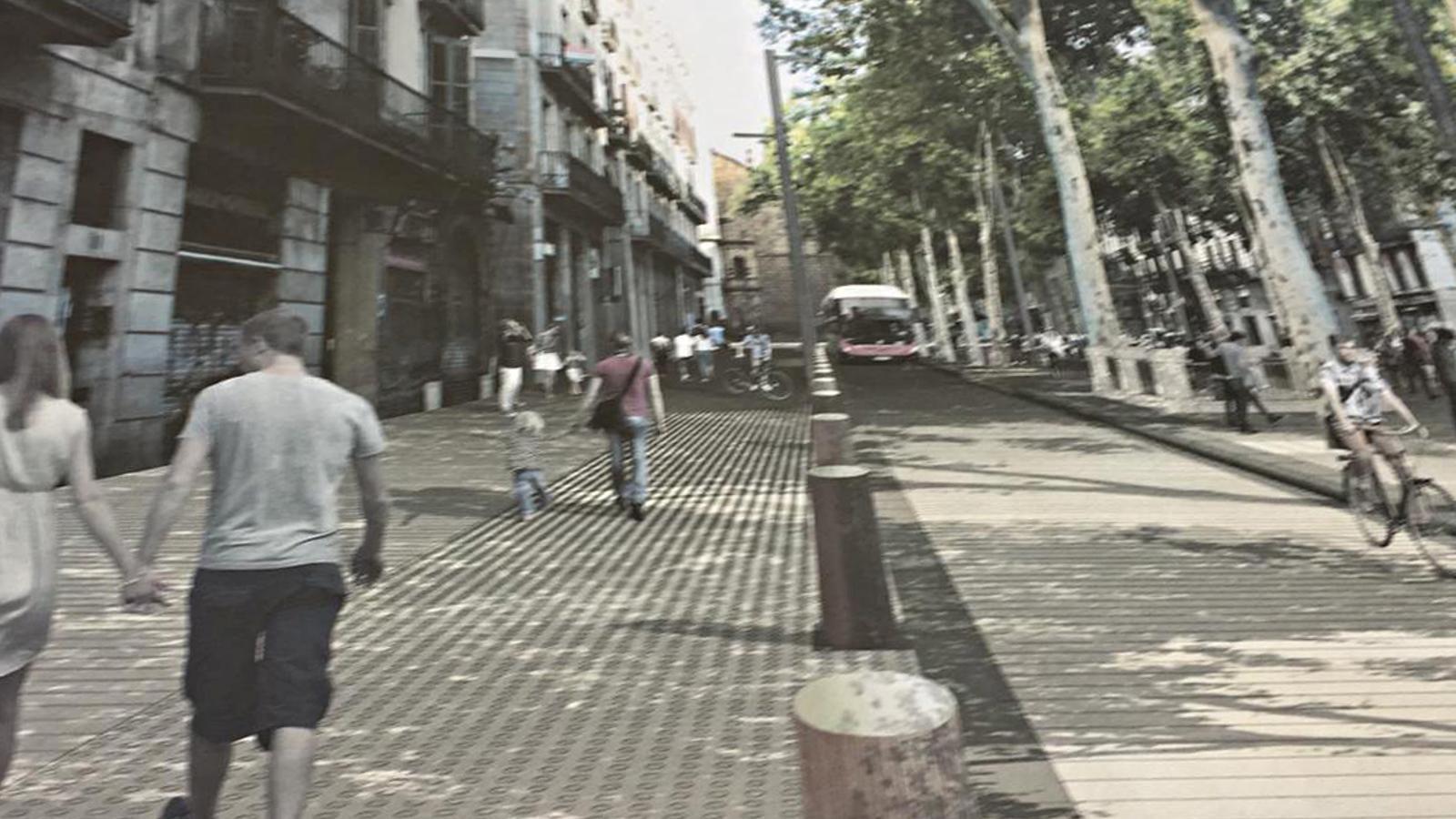 Imatge virtual de com serà la Rambla