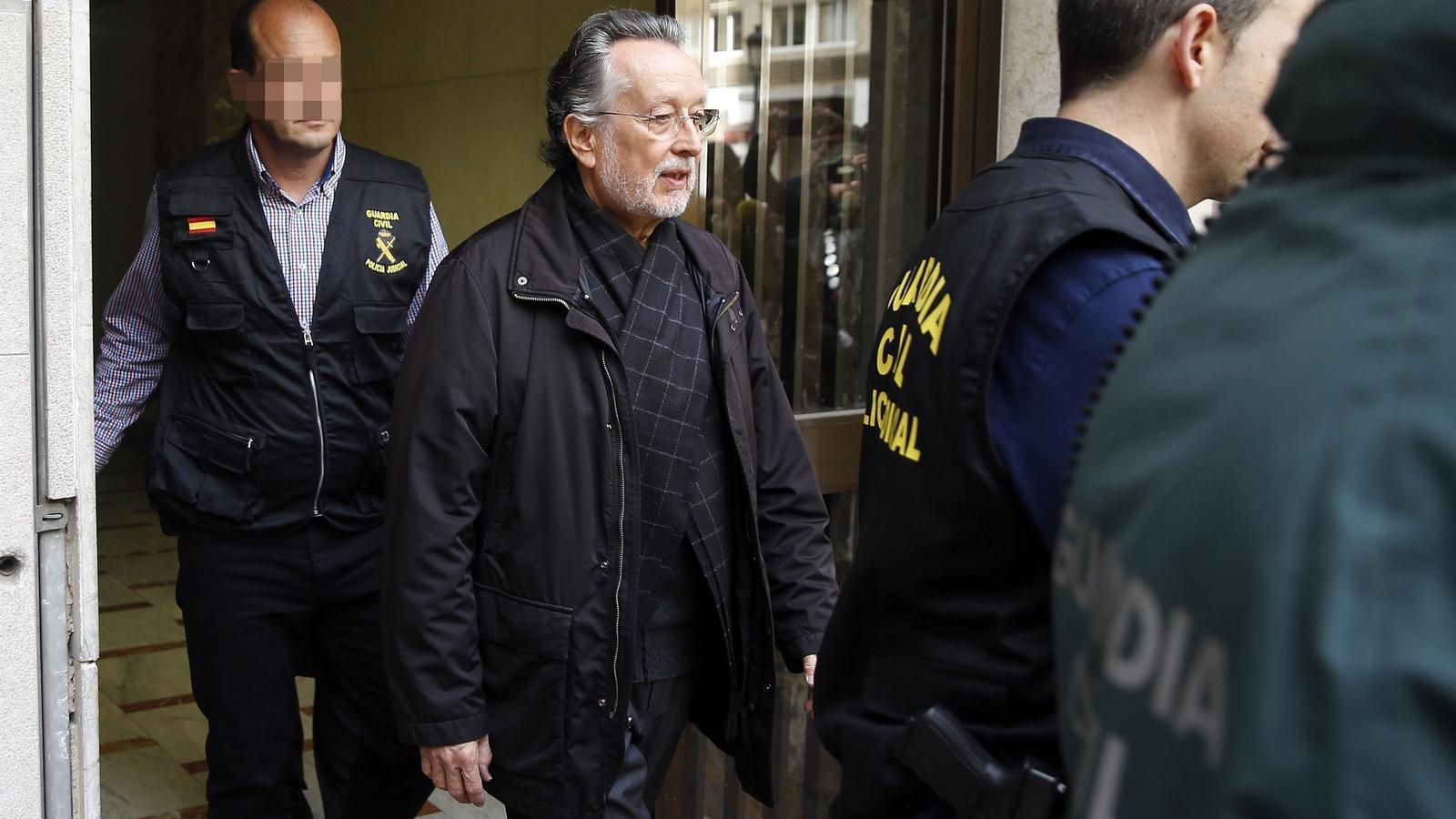 La Guàrdia Civil va requisar a Alfonso Grau rellotges d'alta gamma que podria haver rebut a canvi d'adjudicacions