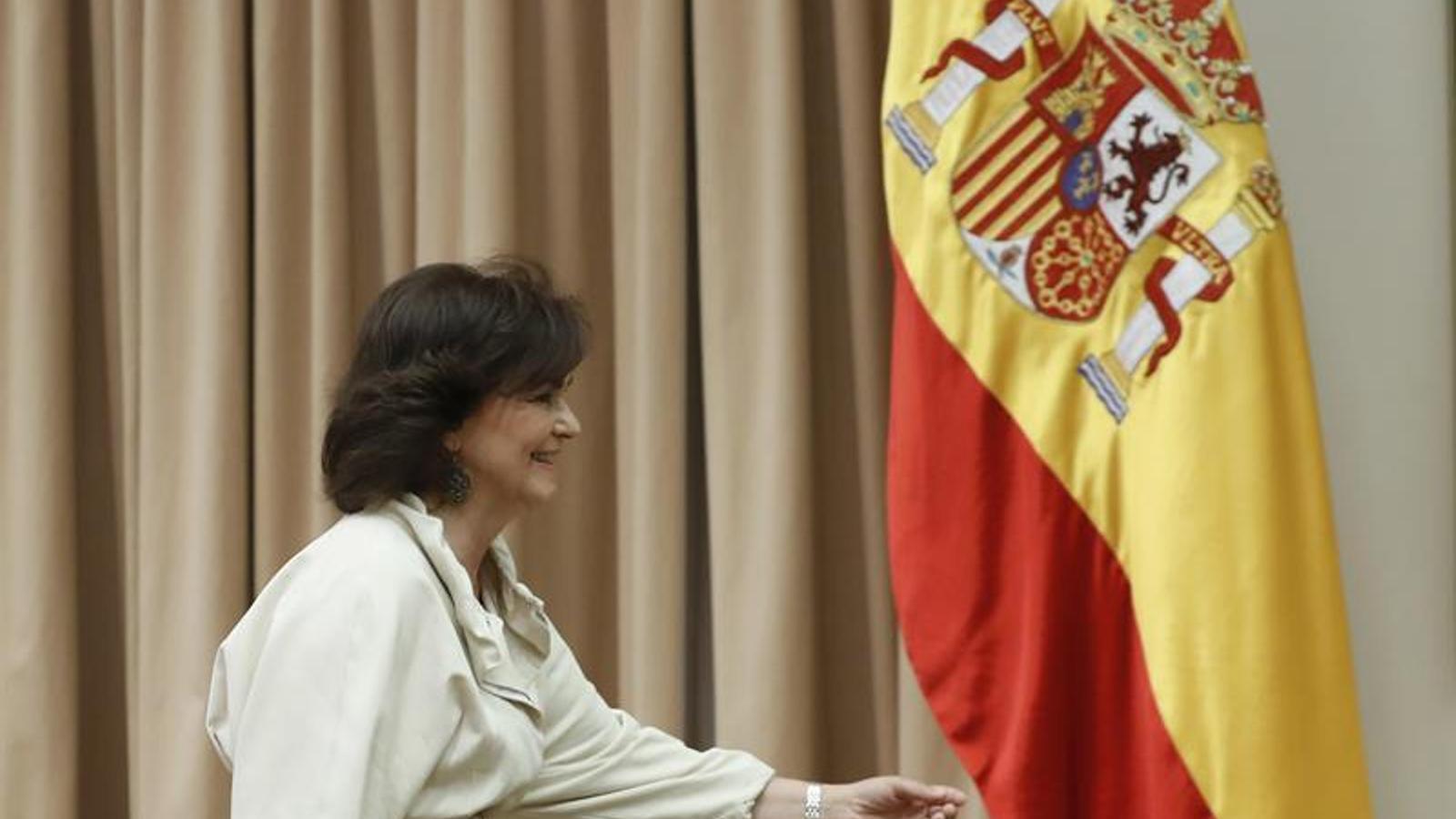 Carmen Calvo, al Congrés / EFE
