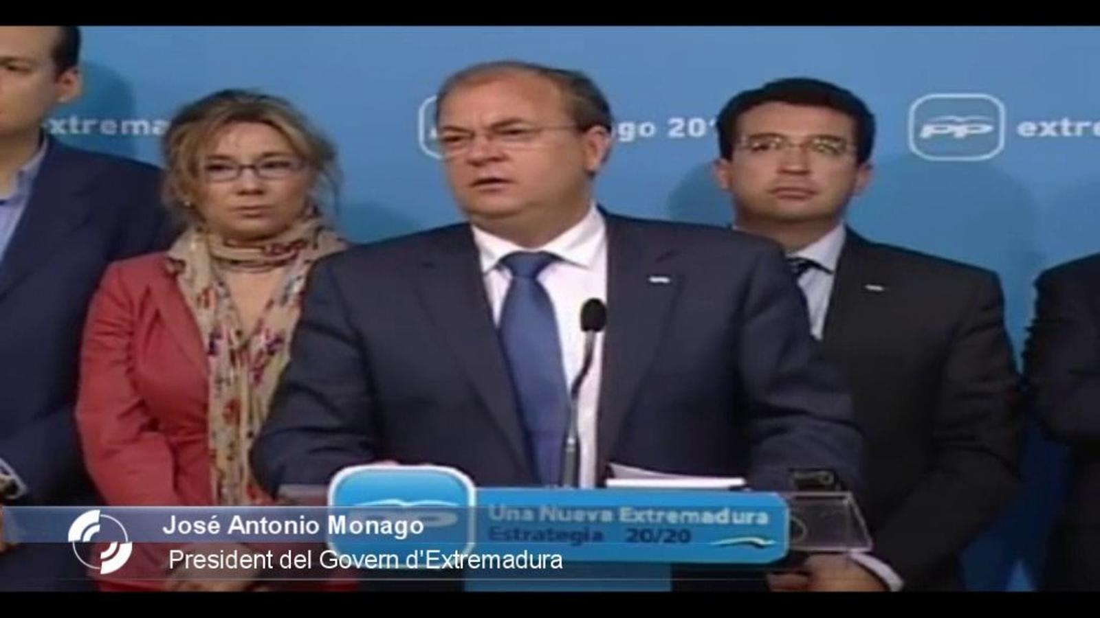El president d'Extremadura repta Trias en català: Si tens collons, vine i m'ho dius a la cara