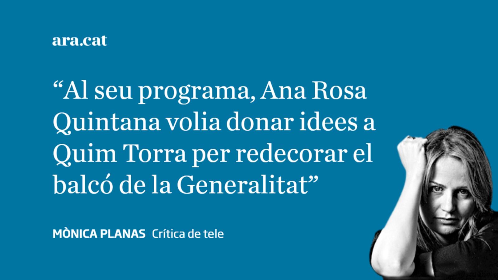 Ana Rosa Quintana va tard