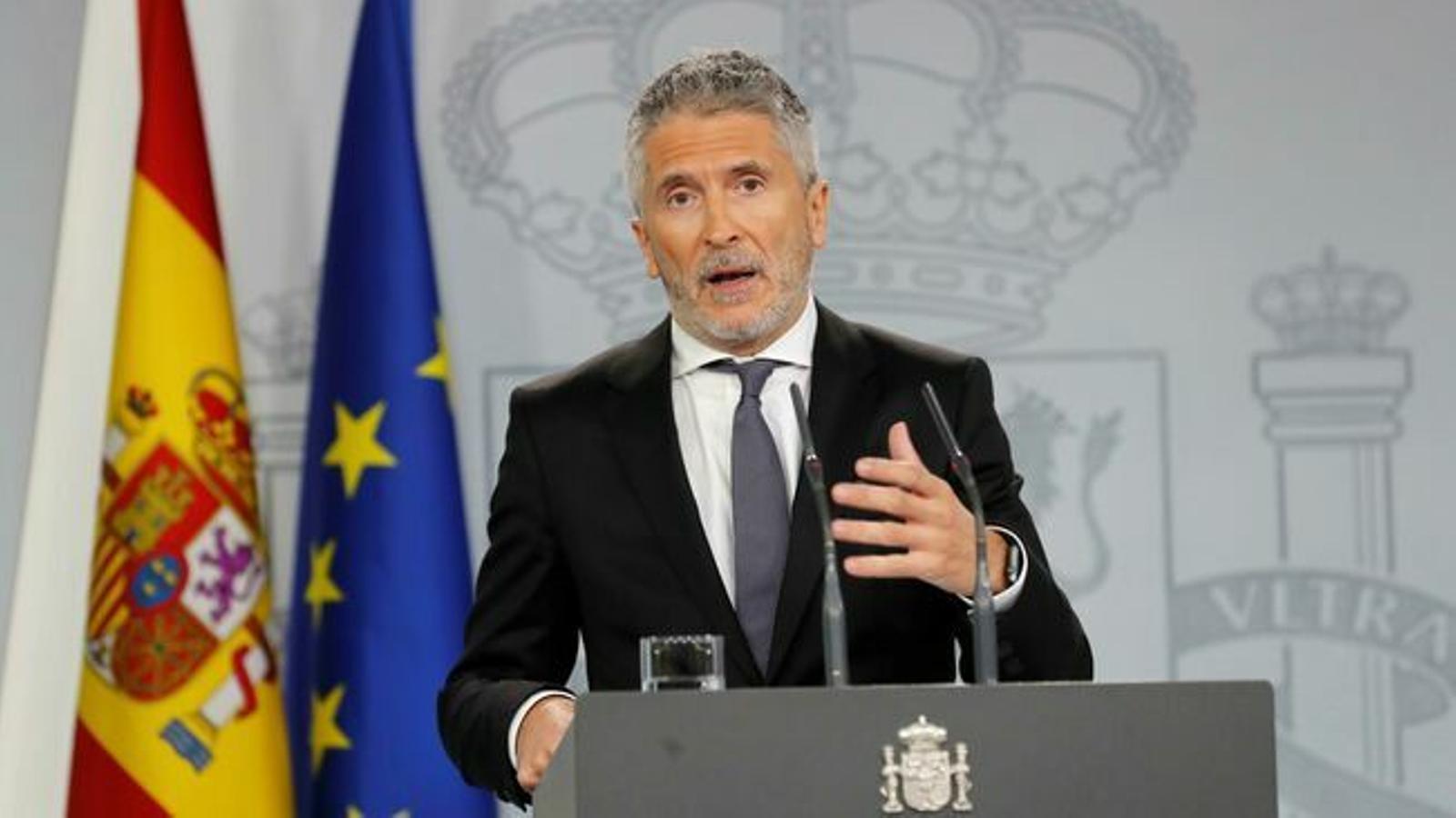"""Grande-Marlaska: """"Aplicarem als independentistes violents el Codi Penal amb tota contundència"""""""