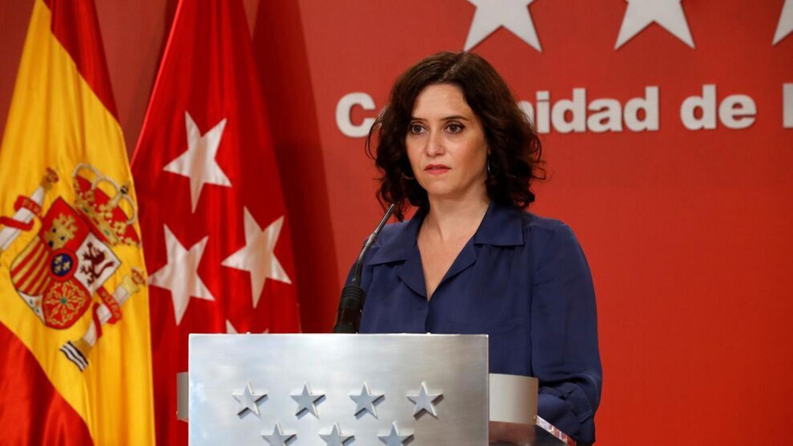 La presidenta de la Comunitat de Madrid, Isabel Díaz Ayuso, en una imatge d'arxiu.