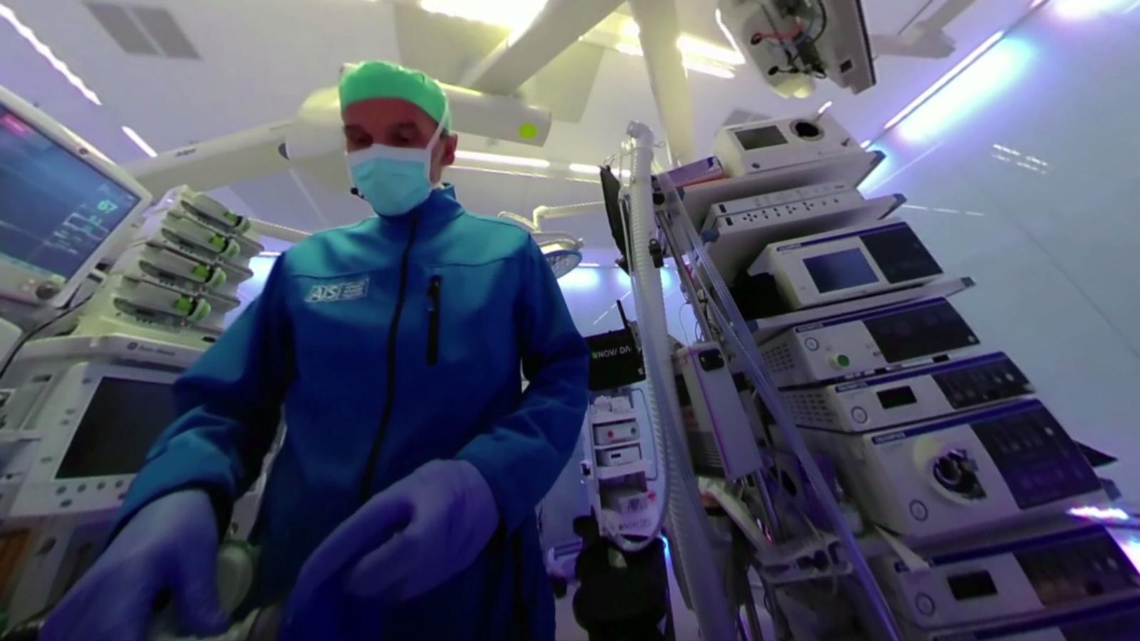 Recreació de realitat virtual abans d'una operació