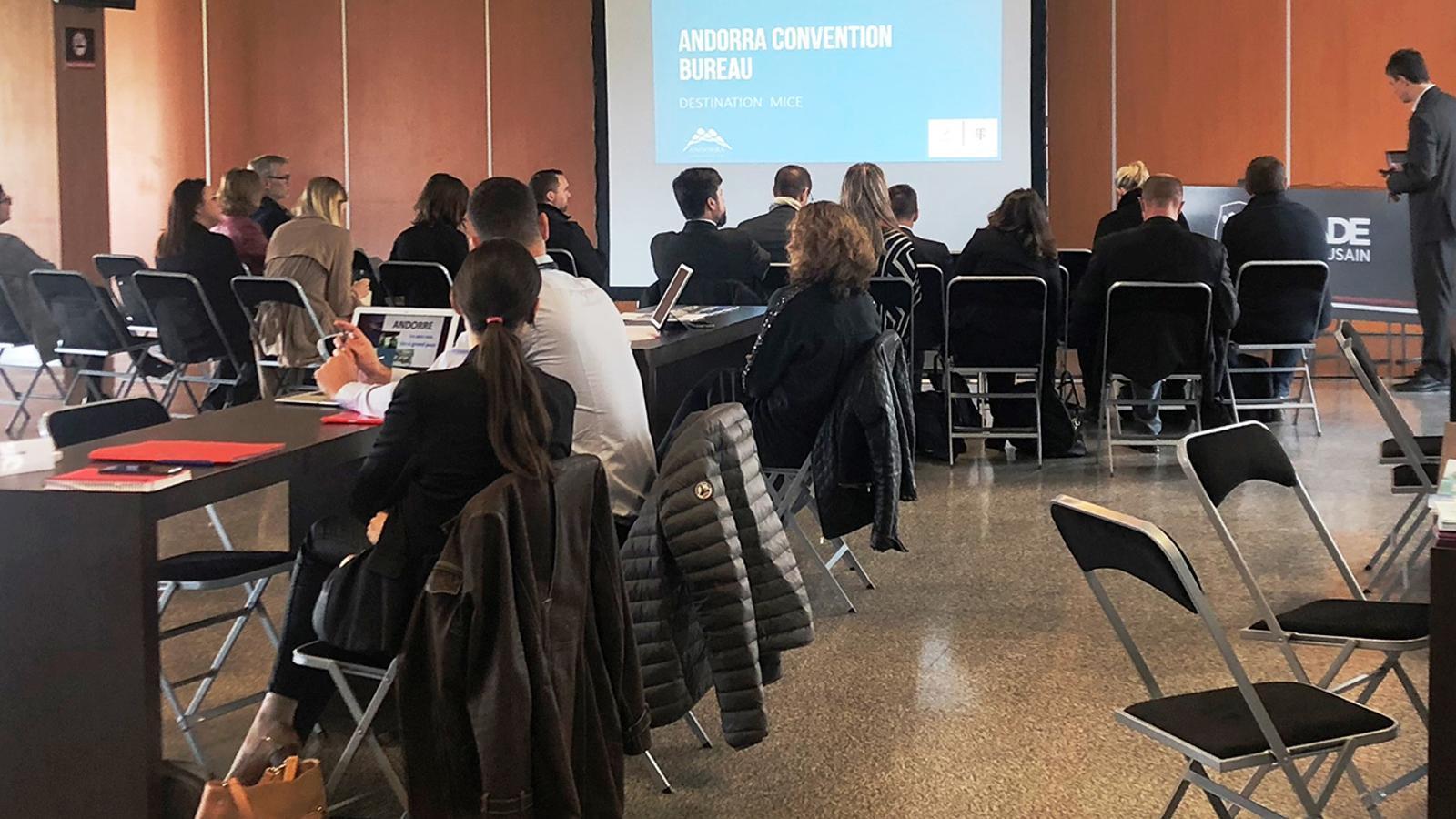Una imatge del seminari de l'Andorra Convention Bureau a Tolosa. / ANDORRA TURISME