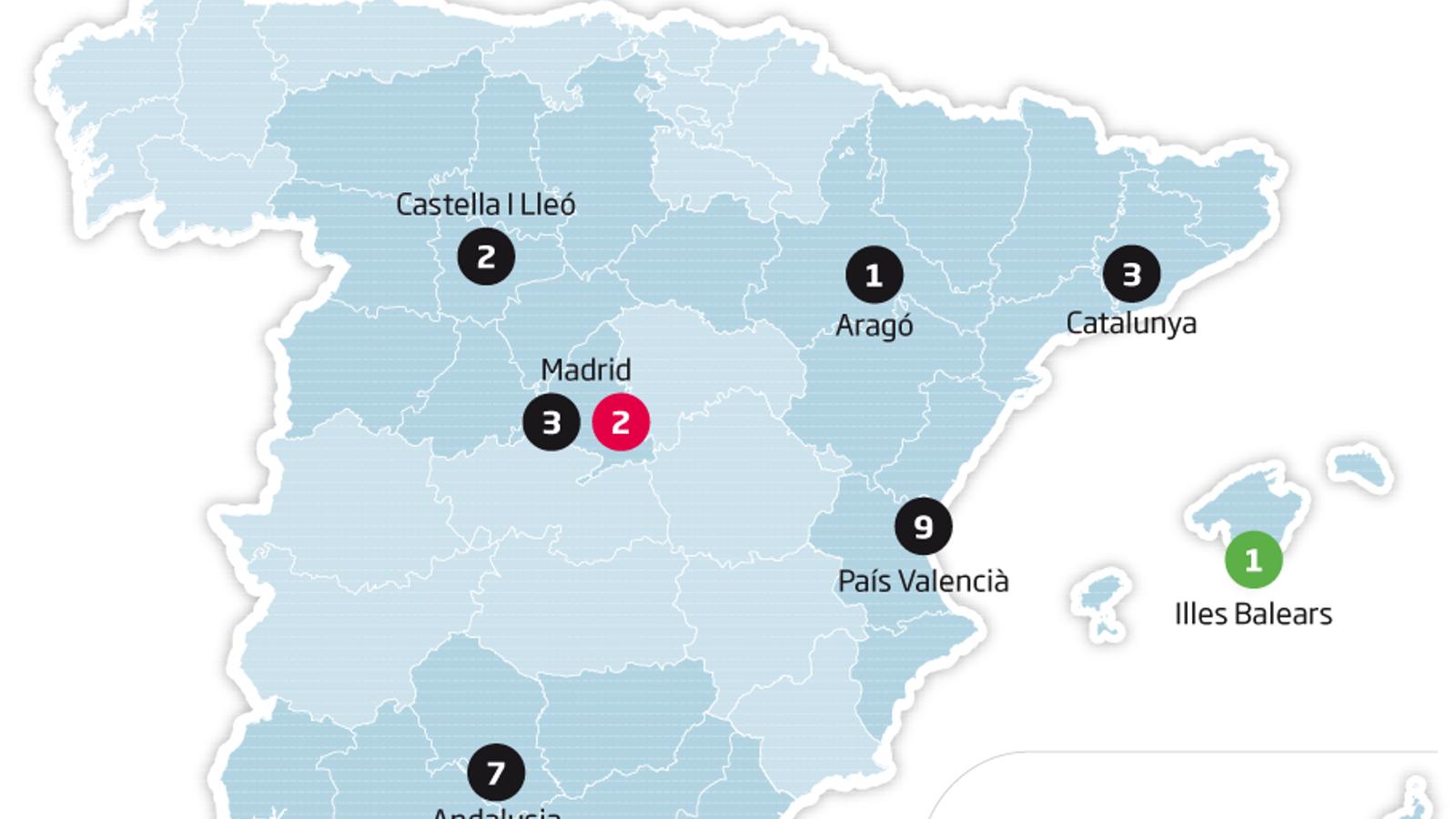 mapa coronavirus espanya 28/02 18:22