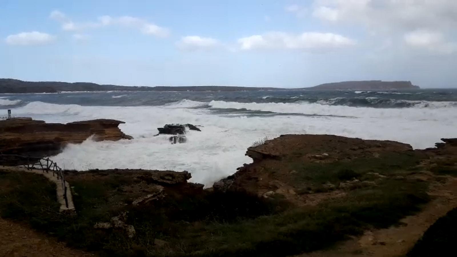 Vídeo del la situació marítima a Menorca.