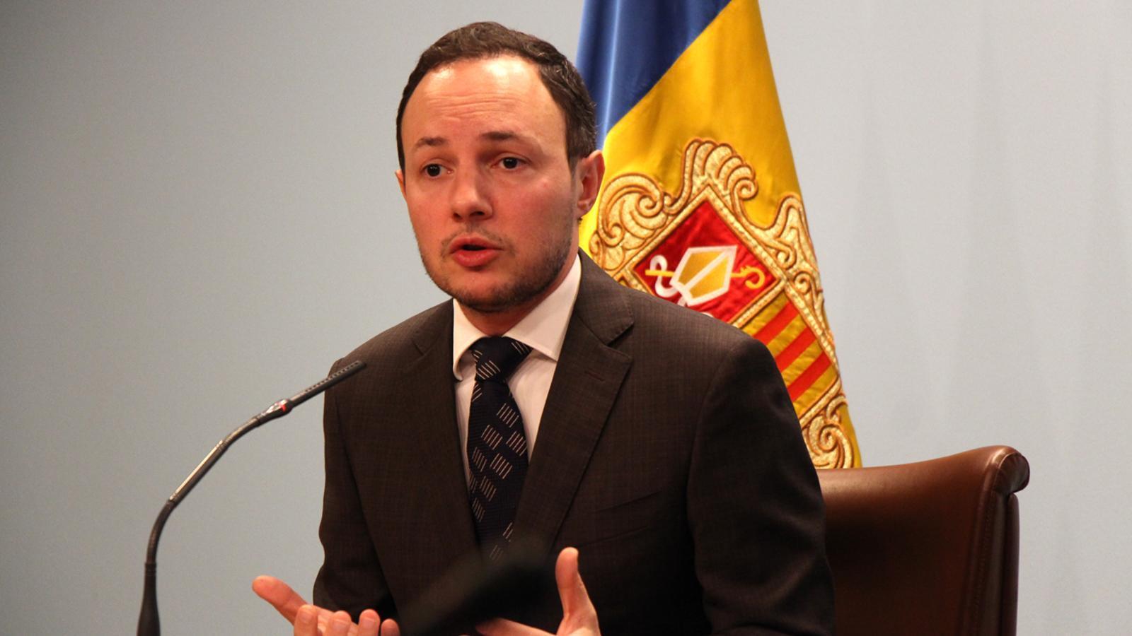 El ministre d'Afers Socials, Justícia i Interior, Xavier Espot. / M. T. (ANA)
