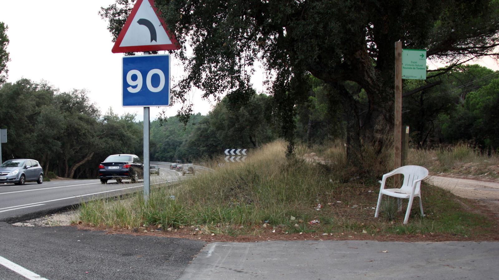 Imatge d'un dels punts habituals on s'exerceix la prostitució a l'N-II / ACN