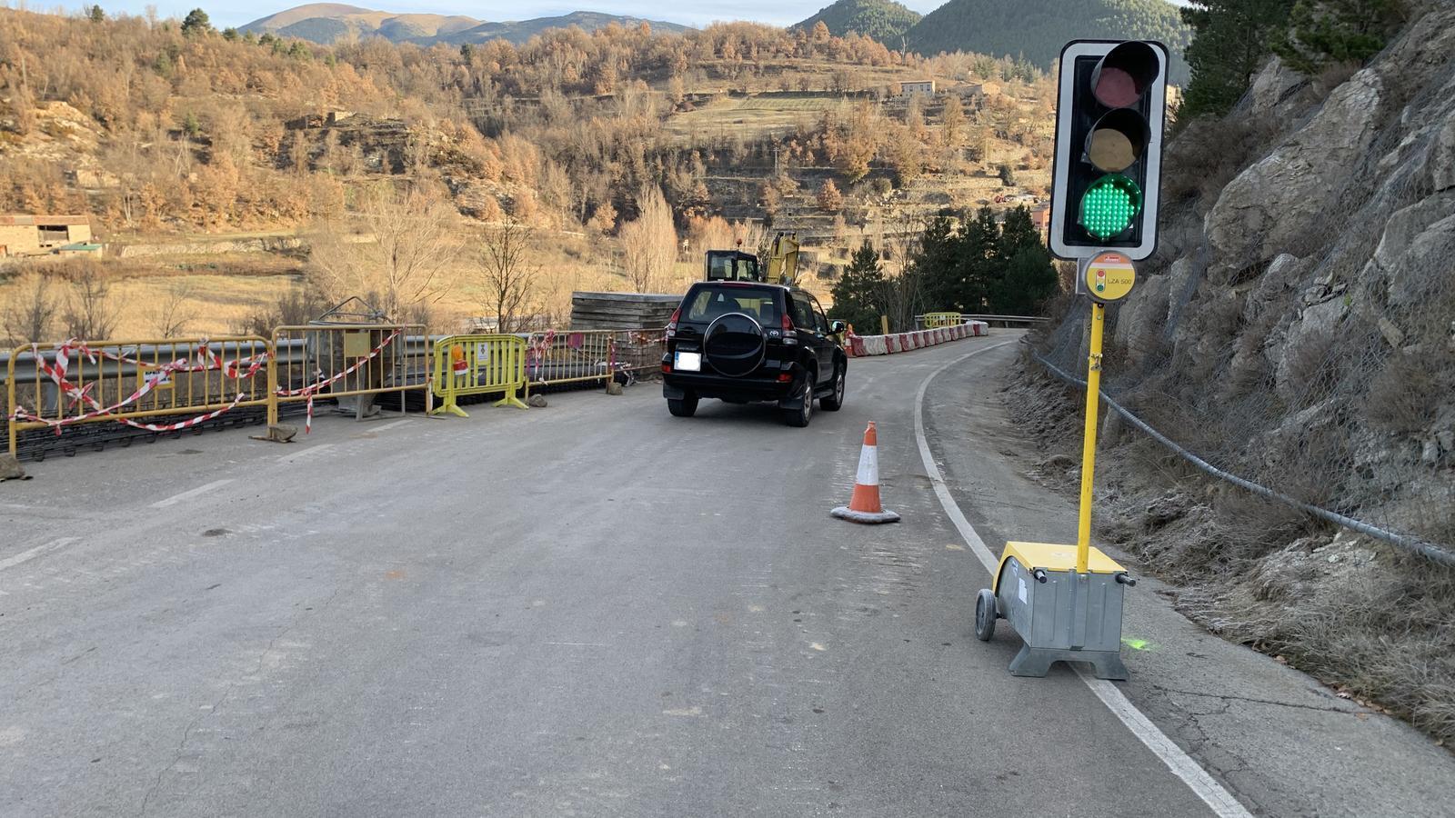 Afectació a la carretera d'accés a Montellà. / G.L.T.