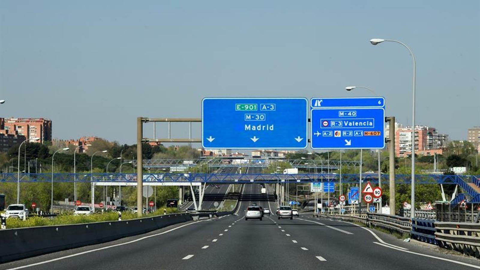 Accessos de Madrid amb poca afluència de trànsit.