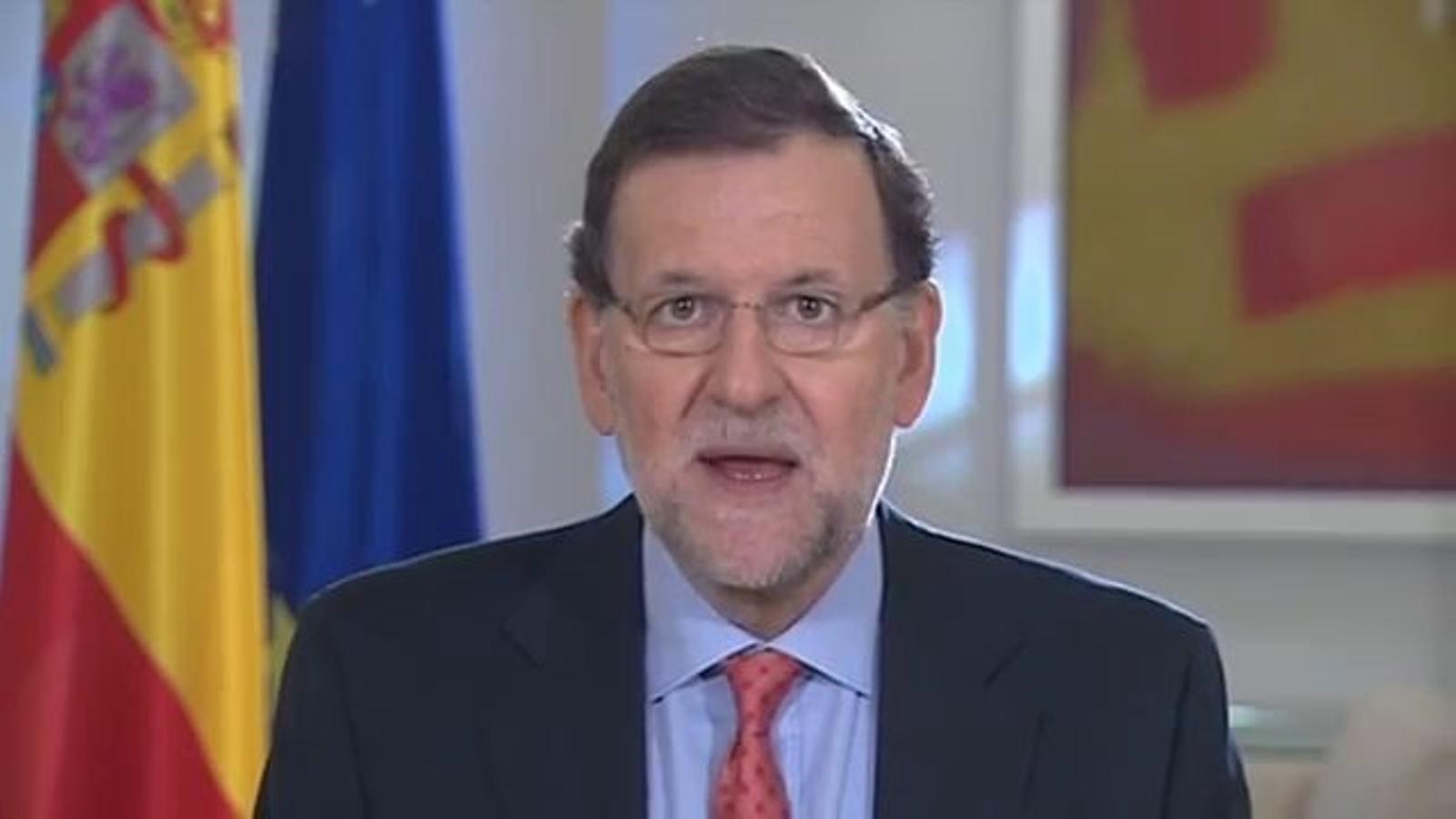 Declaració institucional de Mariano Rajoy sobre el referèndum d'Escòcia