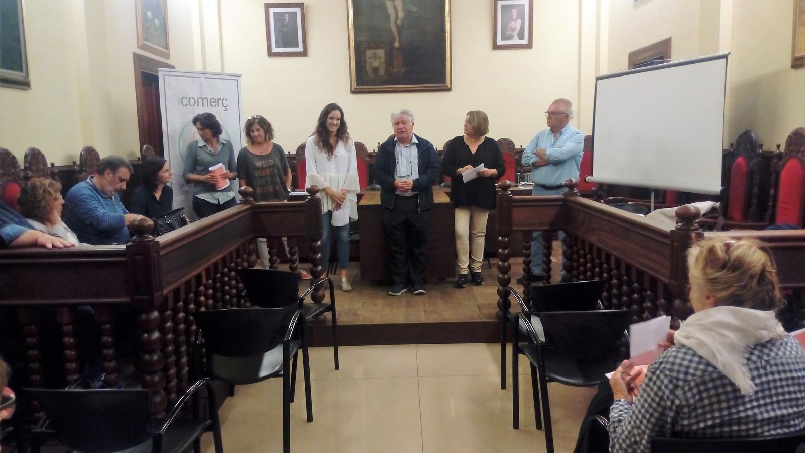 La reunió del pla de forment del comerç local  ha tingut lloc a l'Ajuntament.
