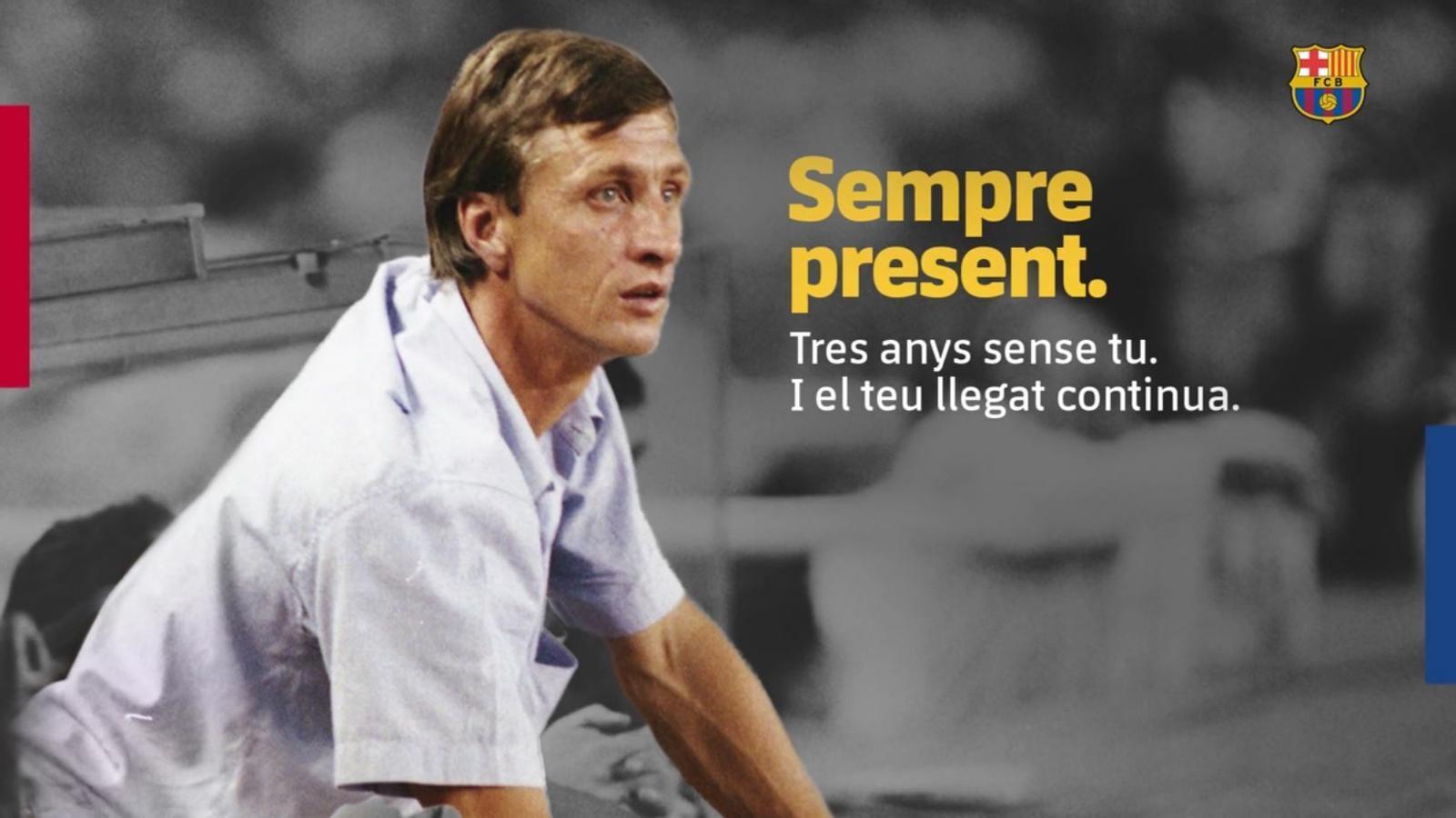 Es compleixen tres anys de la mort de Johan Cruyff