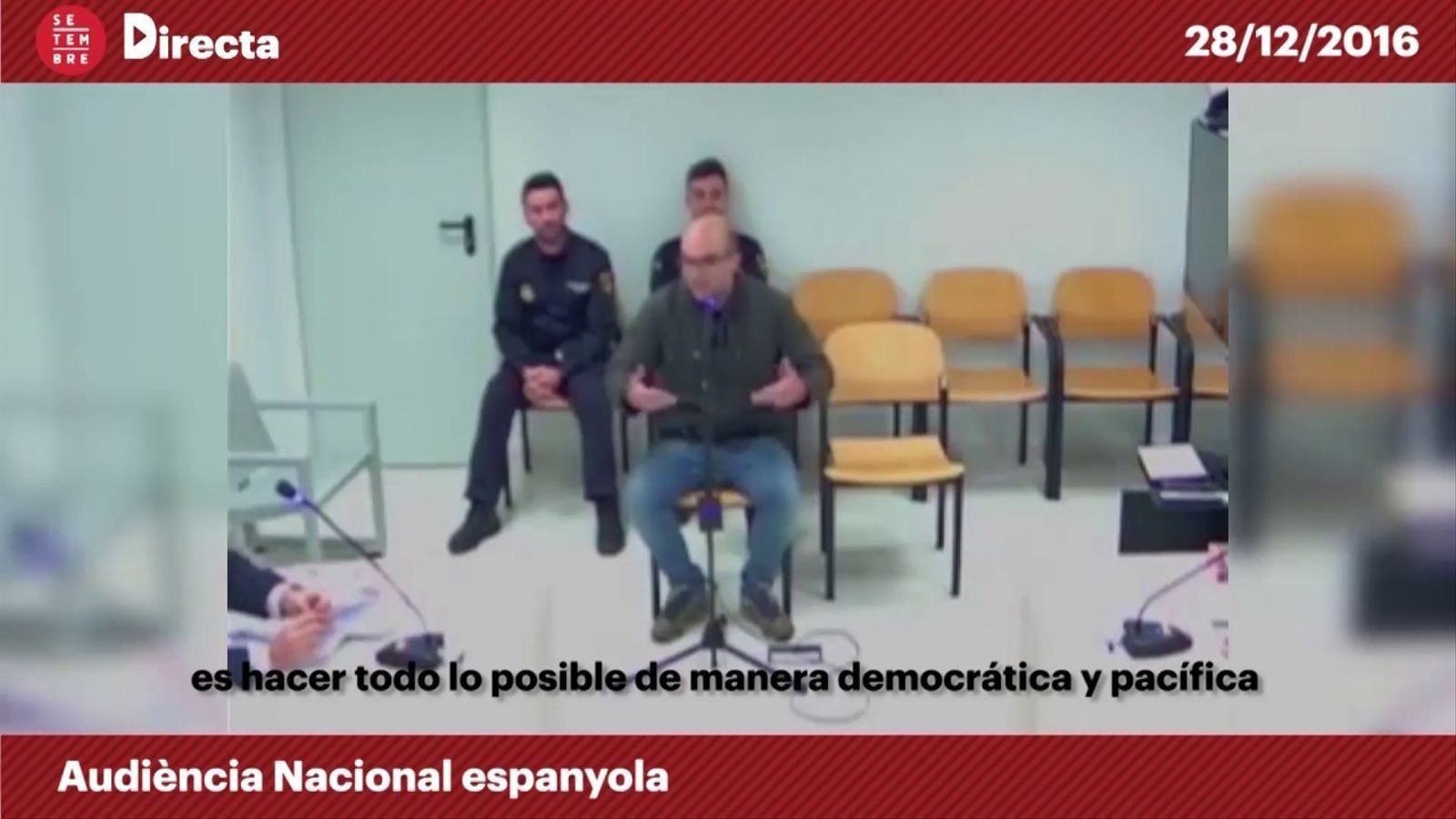 """El fiscal, a Joan Coma: """"Els ous no es trenquen sols. Implica o no l'ús de la violència?"""""""