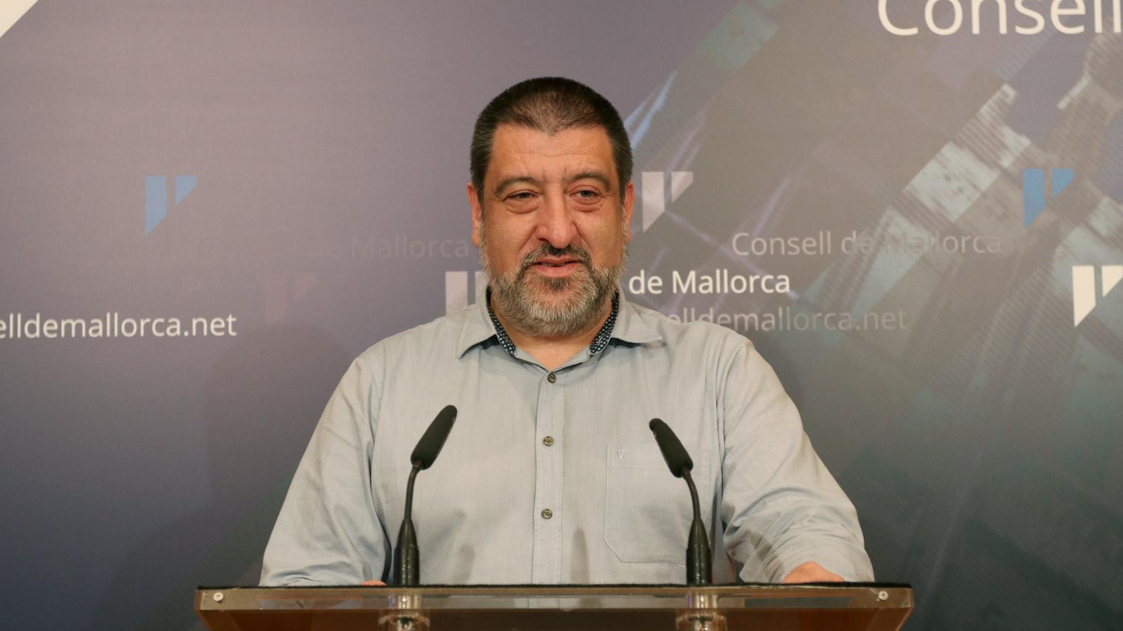 Jesús Jurado, a la roda de premsa del Consell