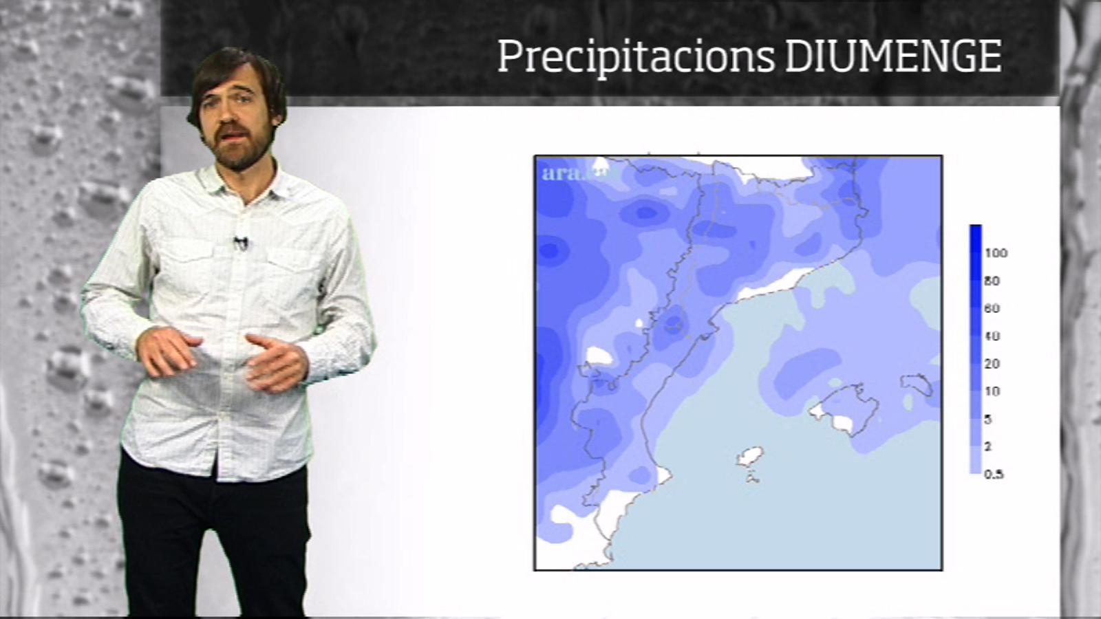 La méteo en 1 minut: cap de setmana variable i amb (poques) estones de pluja