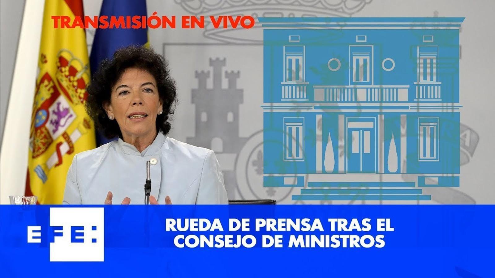 Directe de la roda de premsa posterior al consell de ministres