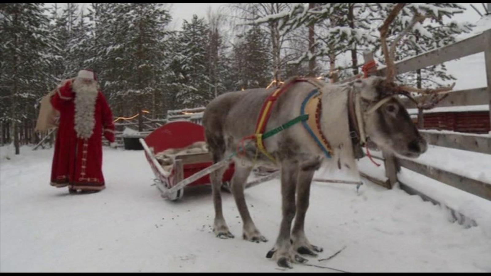 El pare Noel ja ha sortit de Finlàndia carregat de regals