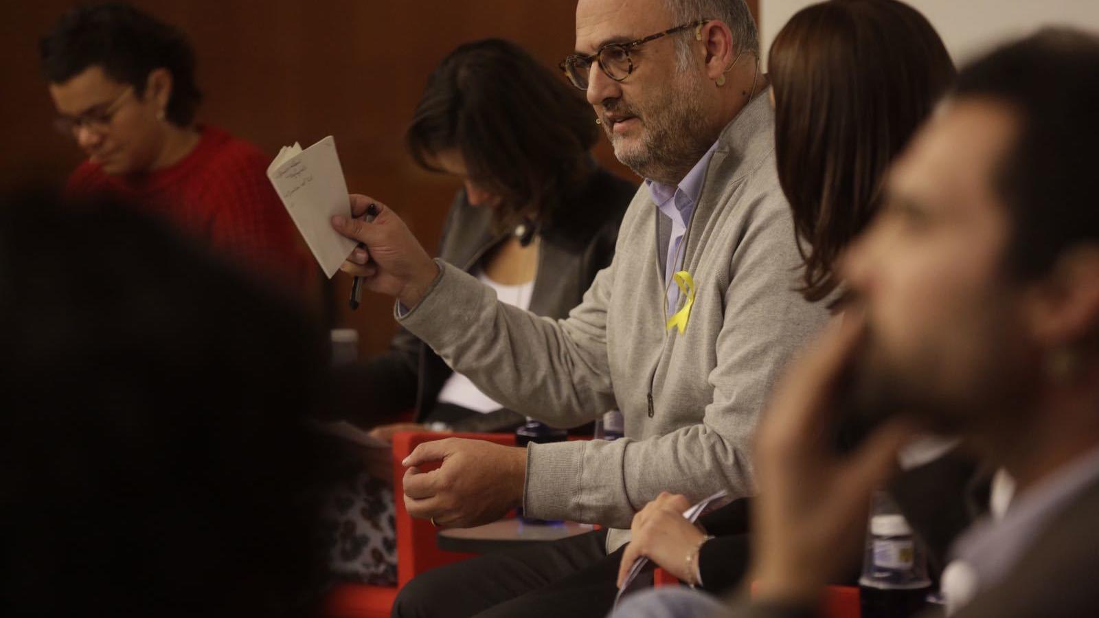 Eduard Pujol, de Junts per Catalunya, durant el debat