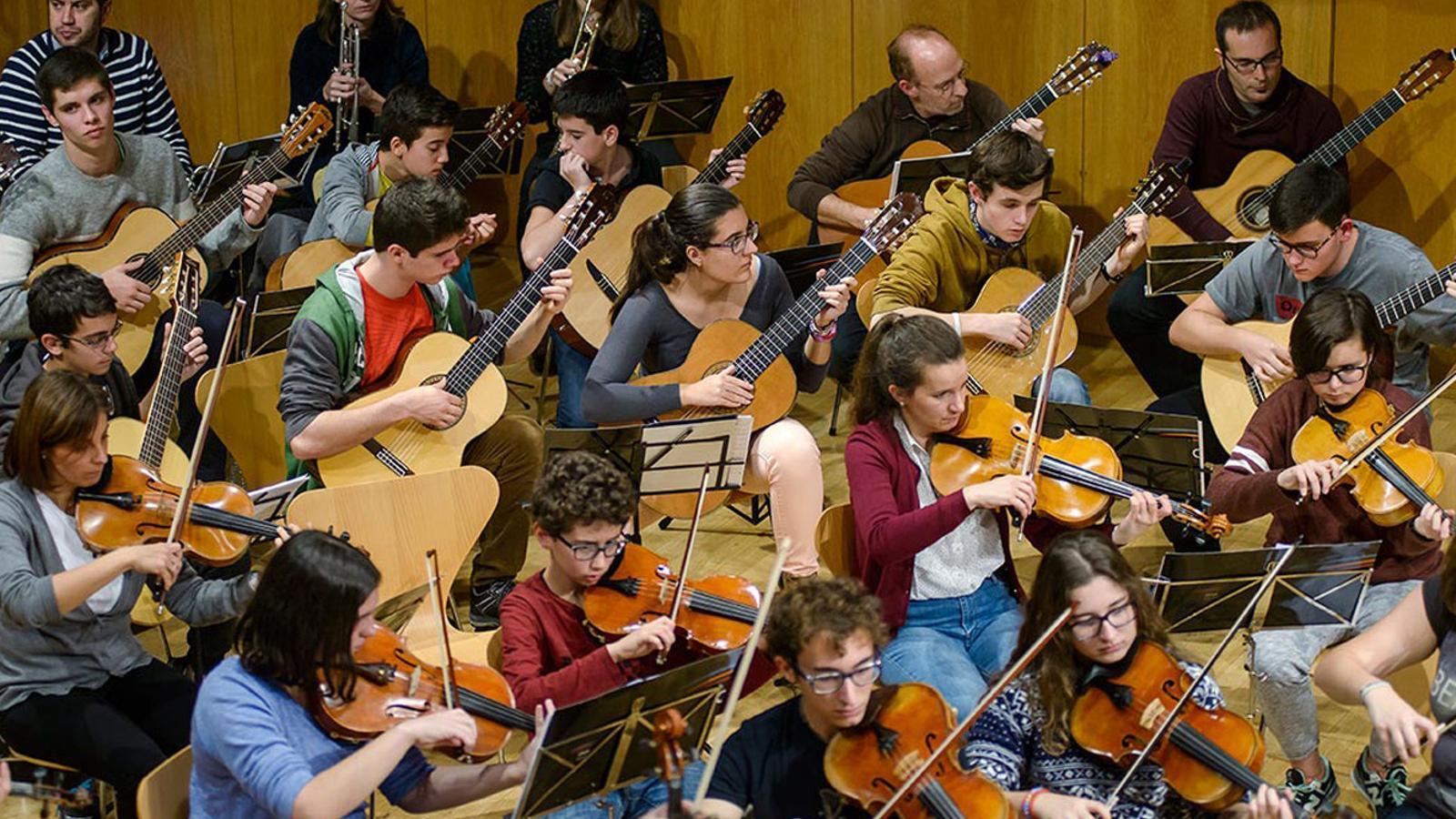 Assaig d'un concert de Santa Cecília