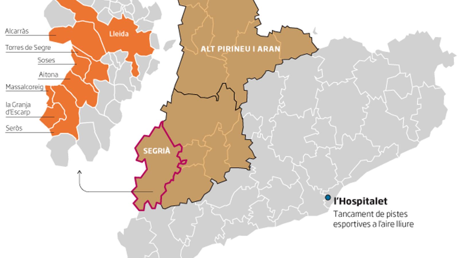 El Govern decreta el confinament domiciliari als municipis del Segrià més afectats pel covid-19