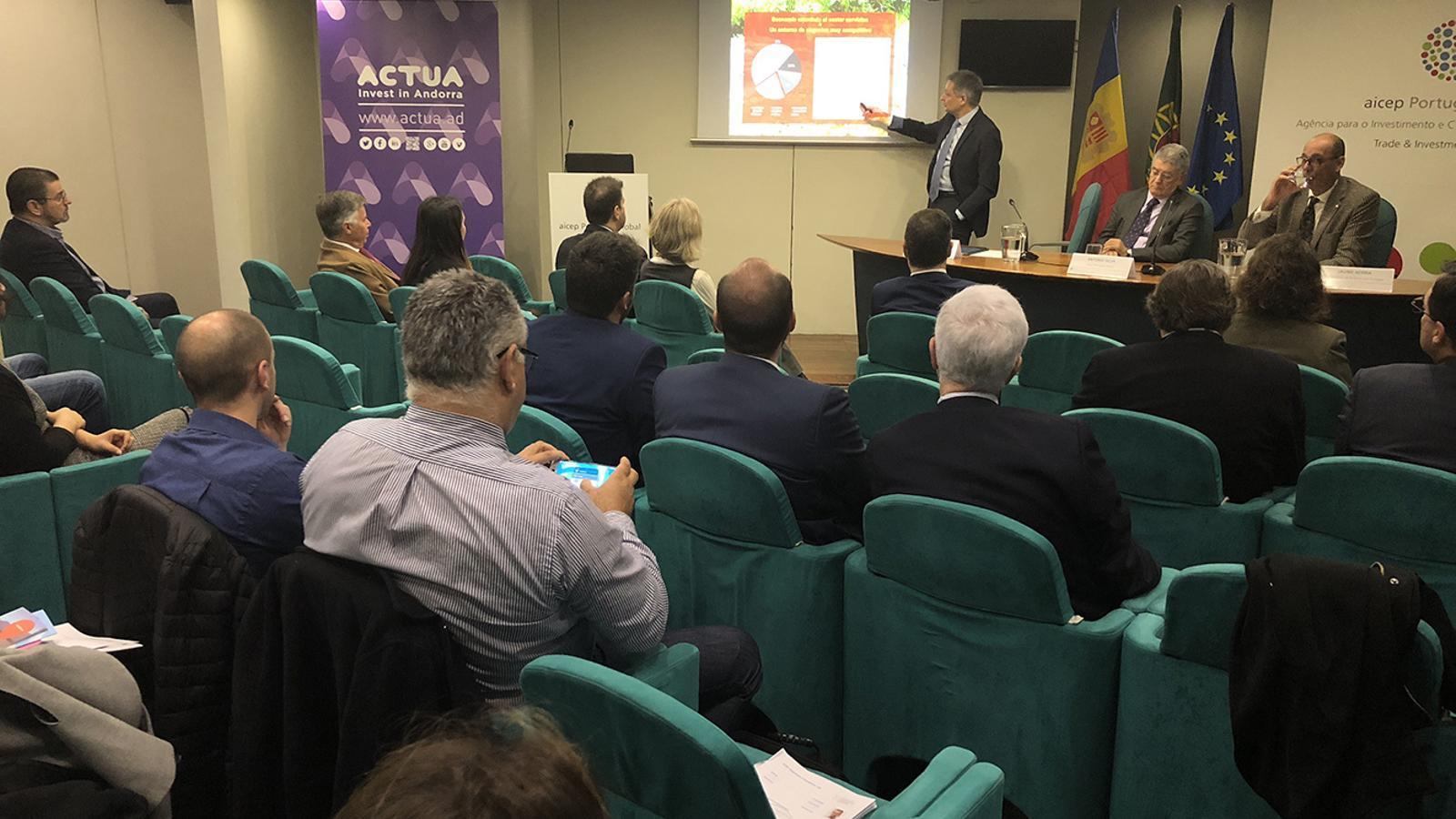 Missió econòmica que s'ha celebrat aquest dijous a Lisboa. / ACTUA