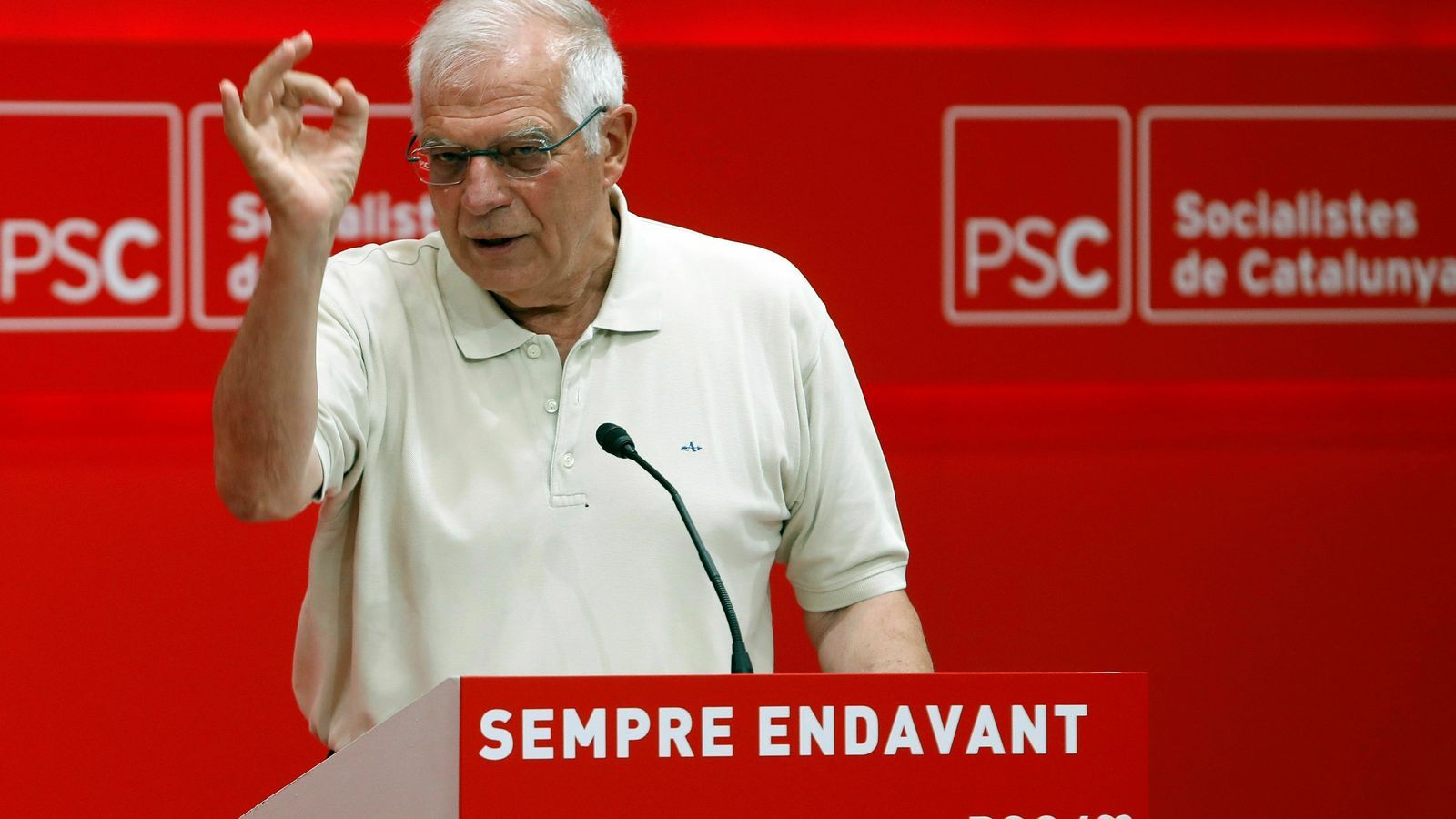 Borrell creu que els independentistes intentaran entorpir la seva candidatura per ser  alt representant de la UE