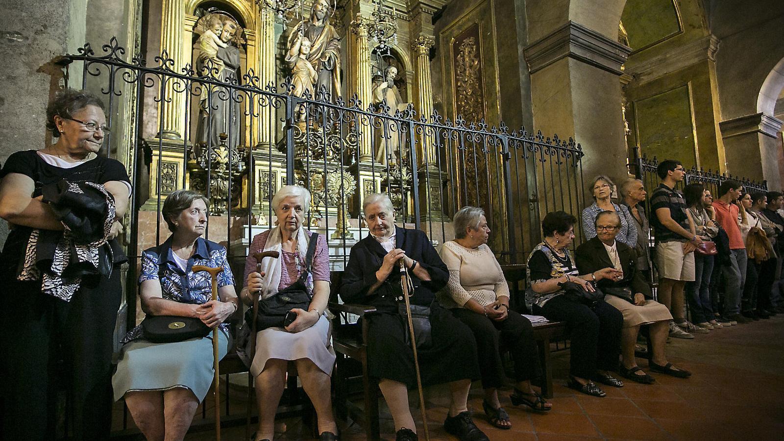 Missa celebrada a l'església de la Mercè de Barcelona.