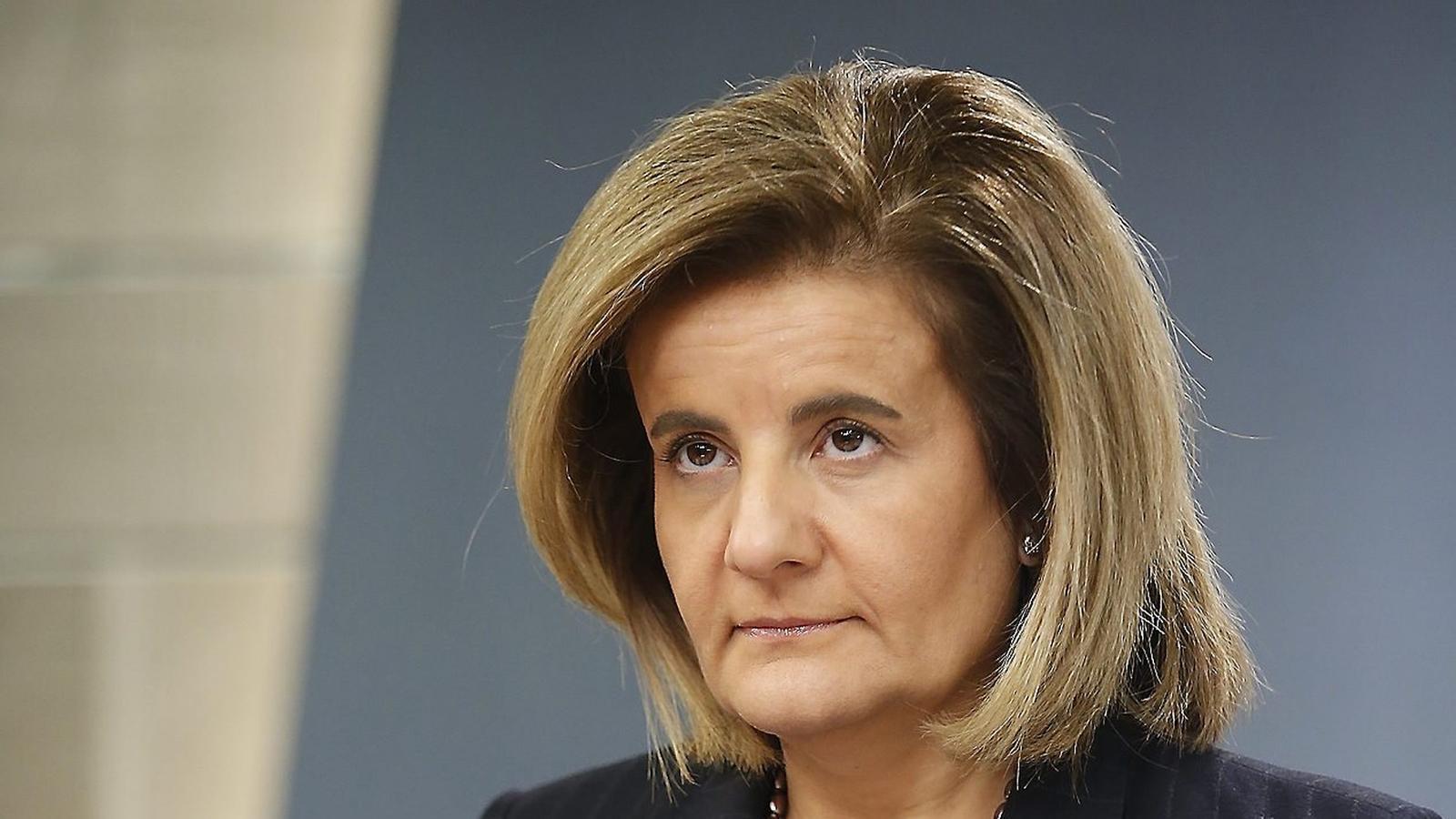 Fátima Báñez és la ministra d'Ocupació i Seguretat Social del govern popular des del 2011.