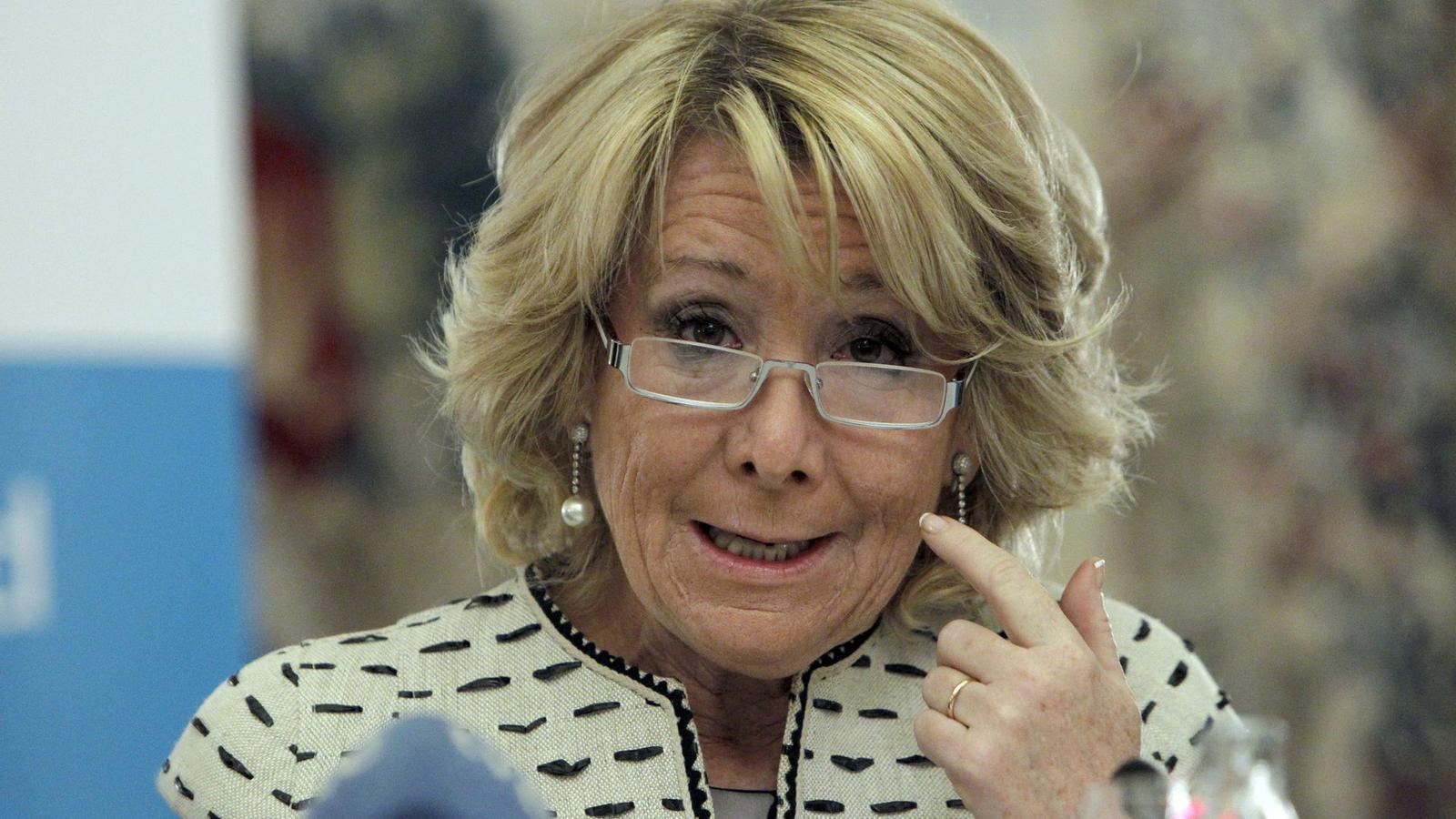 """Aguirre: """"Espanya està el doble  de millor que  en l'última crisi"""""""