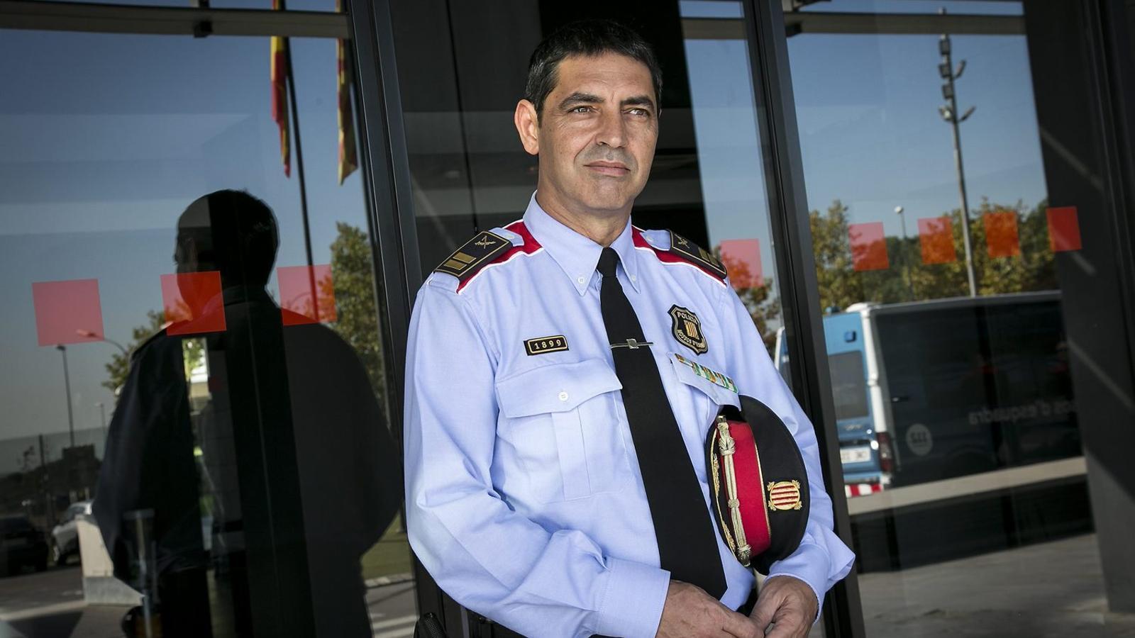 El comissari Josep Lluís Trapero al complex Egara, seu central dels Mossos, a Sabadell