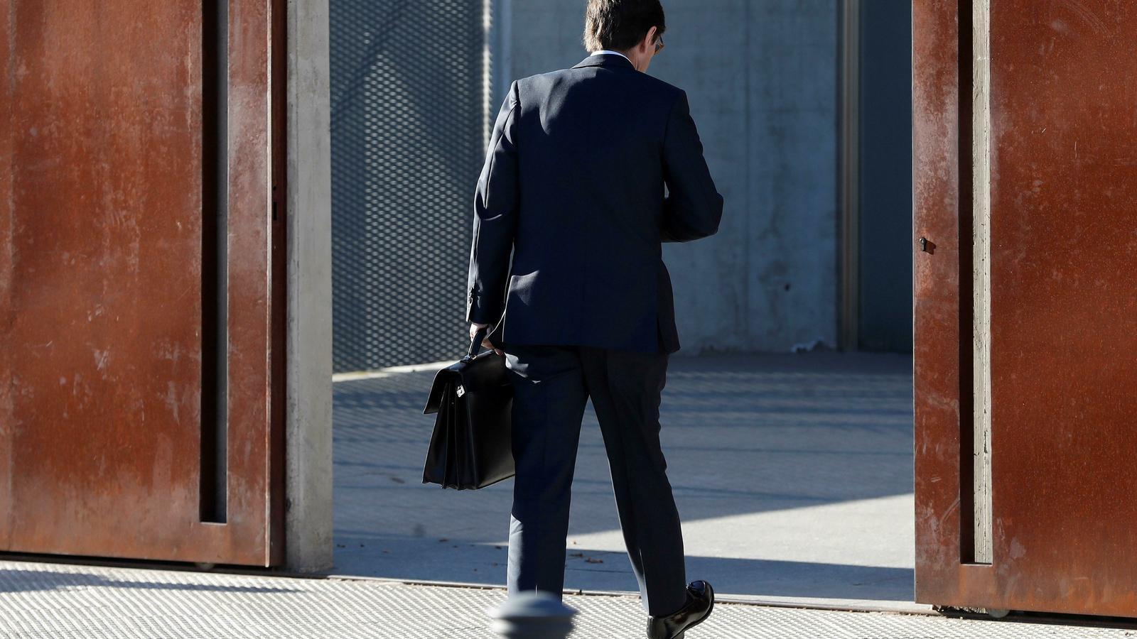 El president de Bankia, José Ignacio Goirigolzarri, a l'arribada a l'Audiència Nacional per testificar en el cas Bankia.