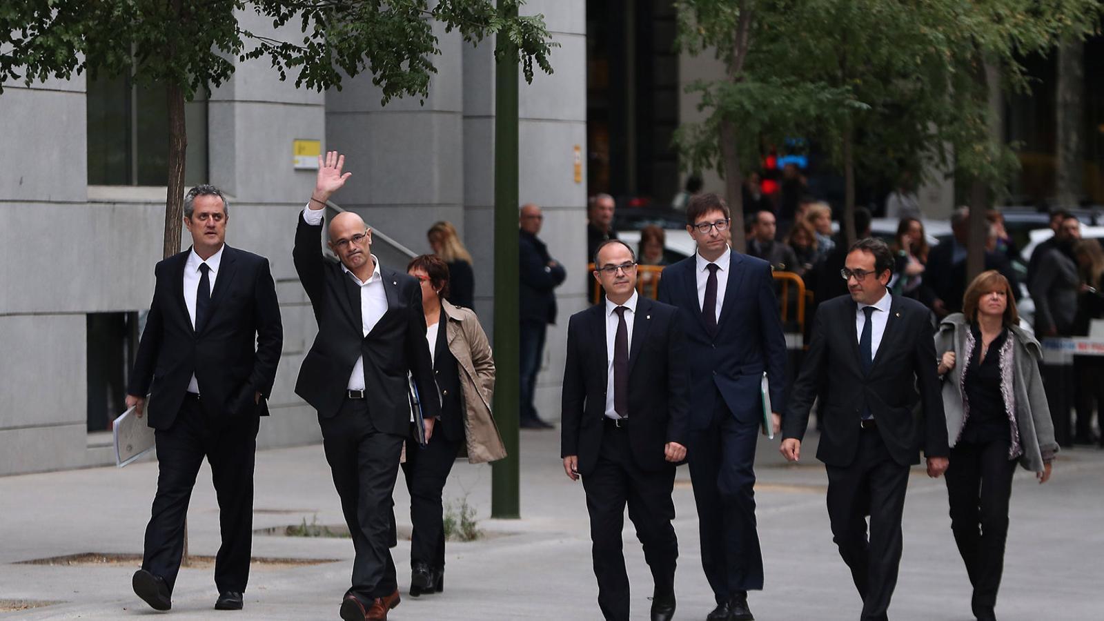 Els consellers d'ERC prometen al Suprem que apostaran pel diàleg