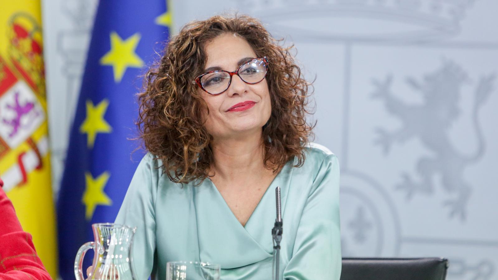 La ministra portaveu, María Jesús Montero, durant la roda de premsa posterior al consell de ministres aquest divendres.