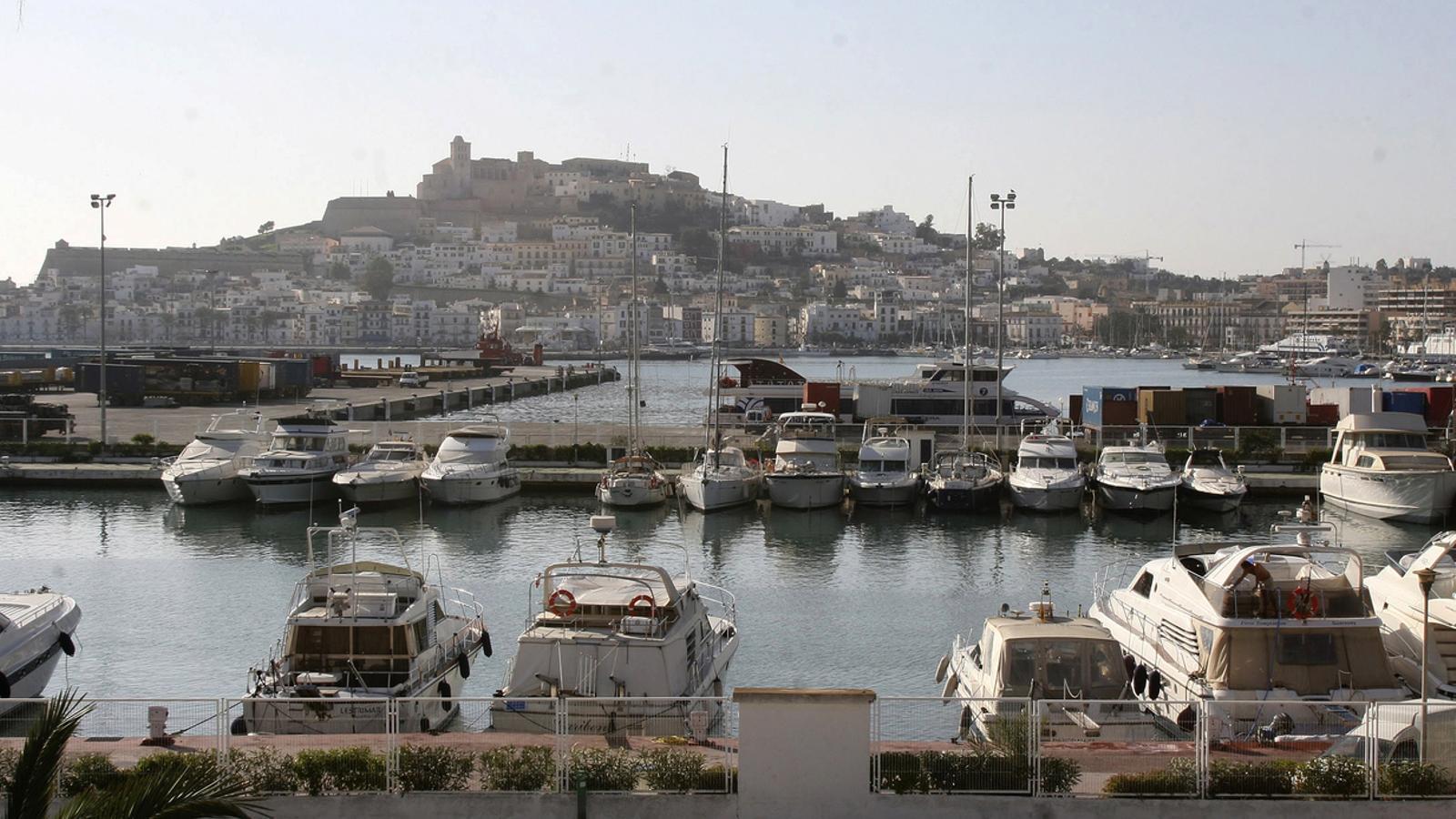 El port d'Eivissa, en una imatge d'arxiu