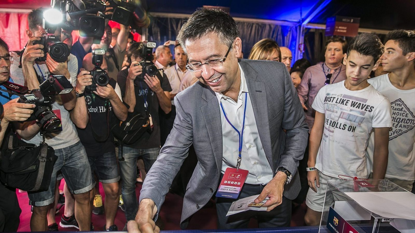 Bartomeu va guanyar les eleccions a la presidència del Barça amb 25.823 vots, el 54,63% del total.