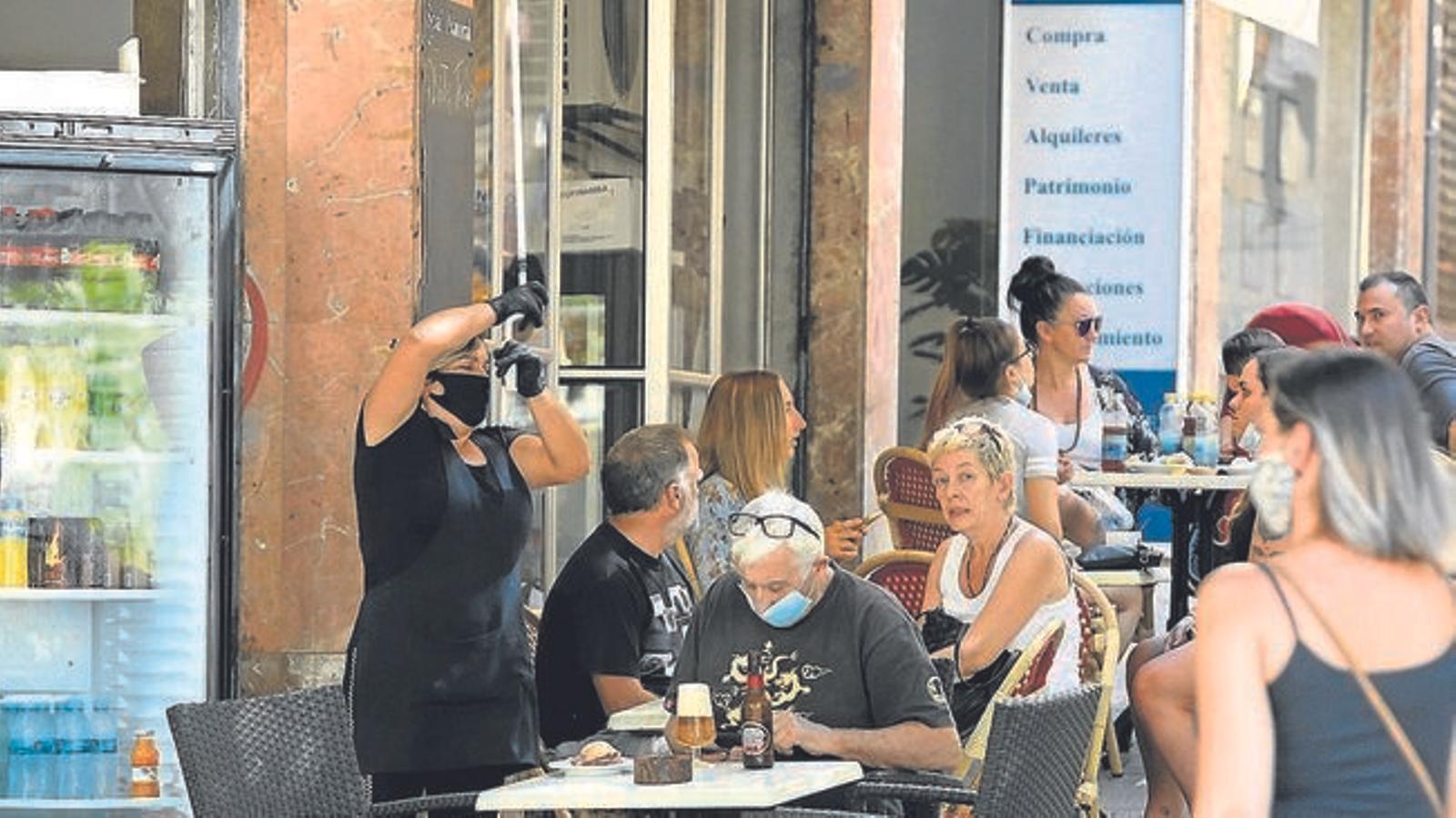 Una terrassa d'un bar de Palma