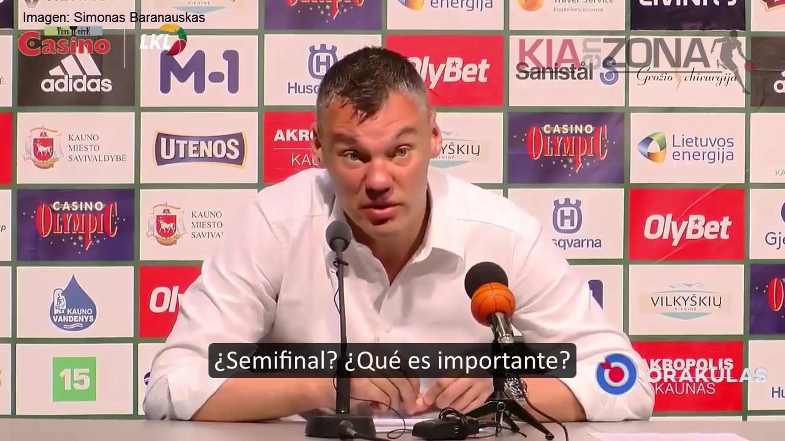 La resposta de Sarunas Jasikevicius sobre la baixa de paternitat d'un jugador del seu equip