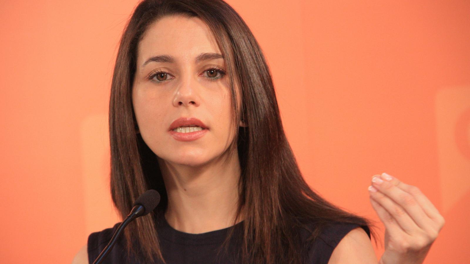 Inés Arrimadas, en roda de premsa aquest dilluns / ACN