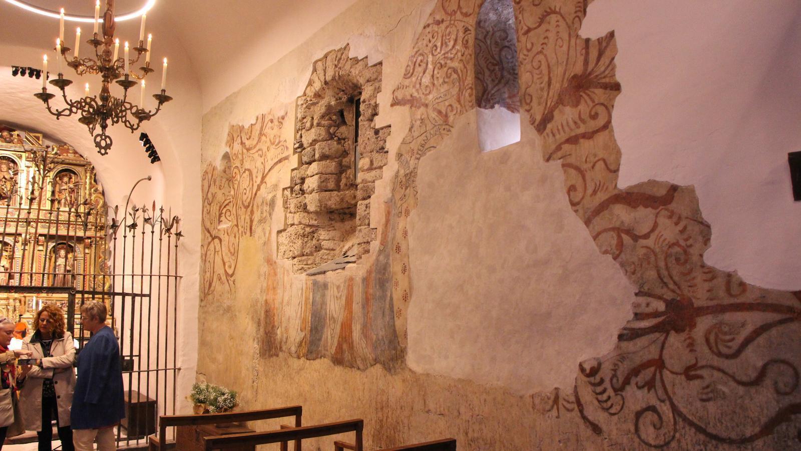Pintures restaurades a l'església de Sant Climent de Pal. / C. A.